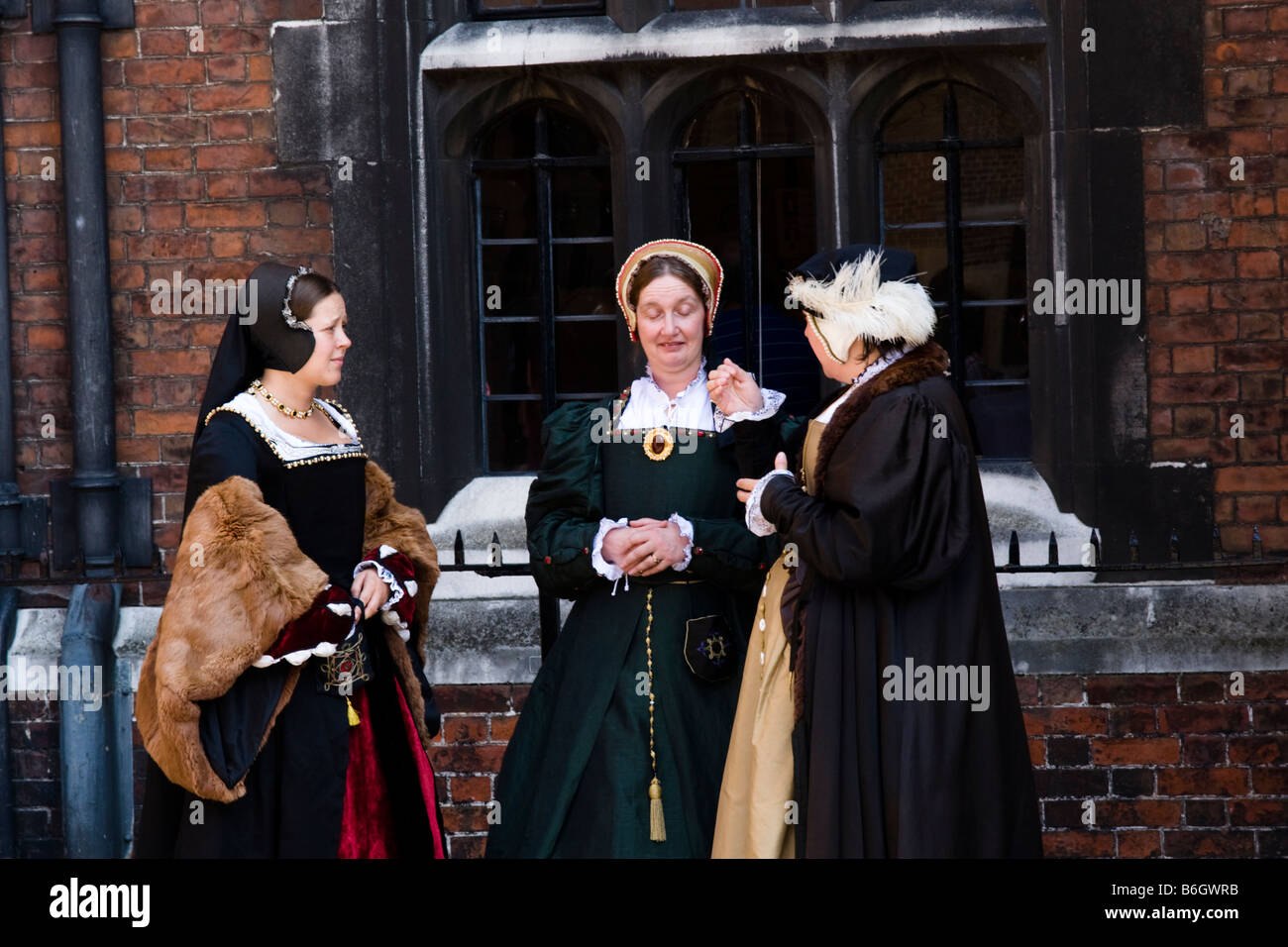 Elizabethan Ladies at Hampton Court Palace Middlesex London Southern England Great Britain - Stock Image