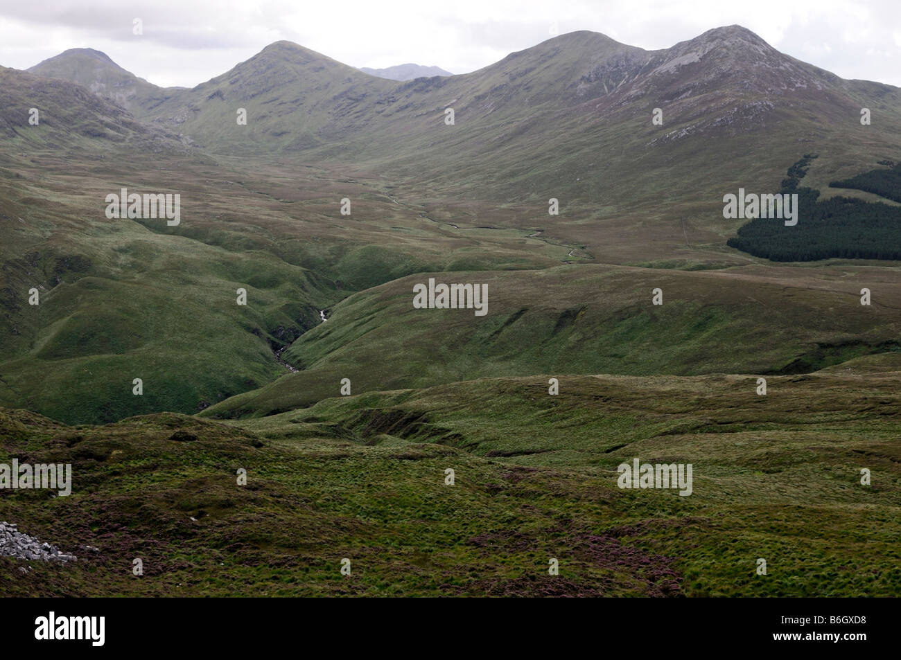 connemara national park view twelve pins from top of diamond mountain galway west of ireland - Stock Image