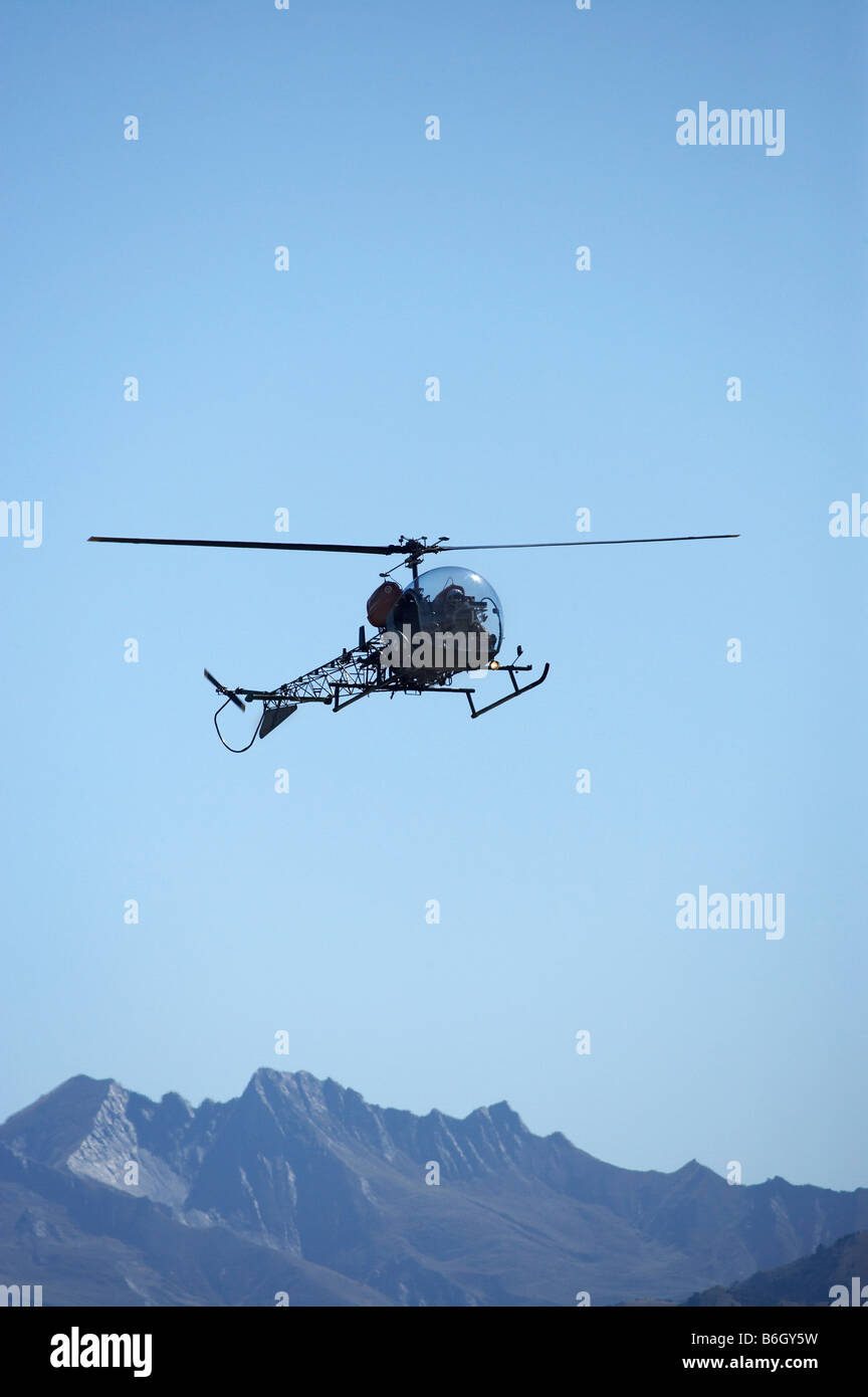 Vintage Bell 47 Helicopter Warbirds over Wanaka Airshow Wanaka South Island New Zealand Stock Photo