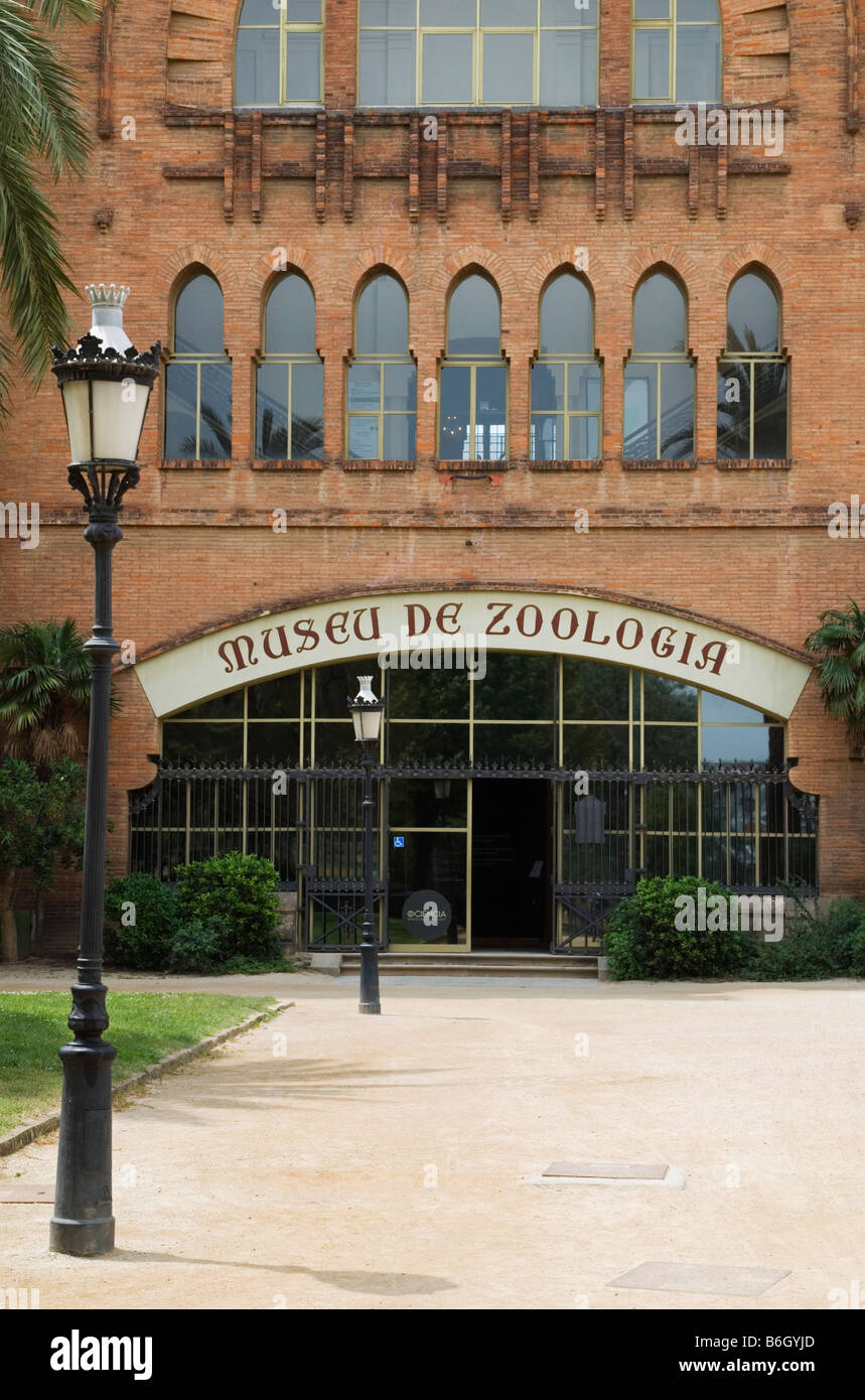 The Zoology Museum is housed in the Castell dels Tres Dragons building in Ciutadella Park, La Ribera, Barcelona, - Stock Image