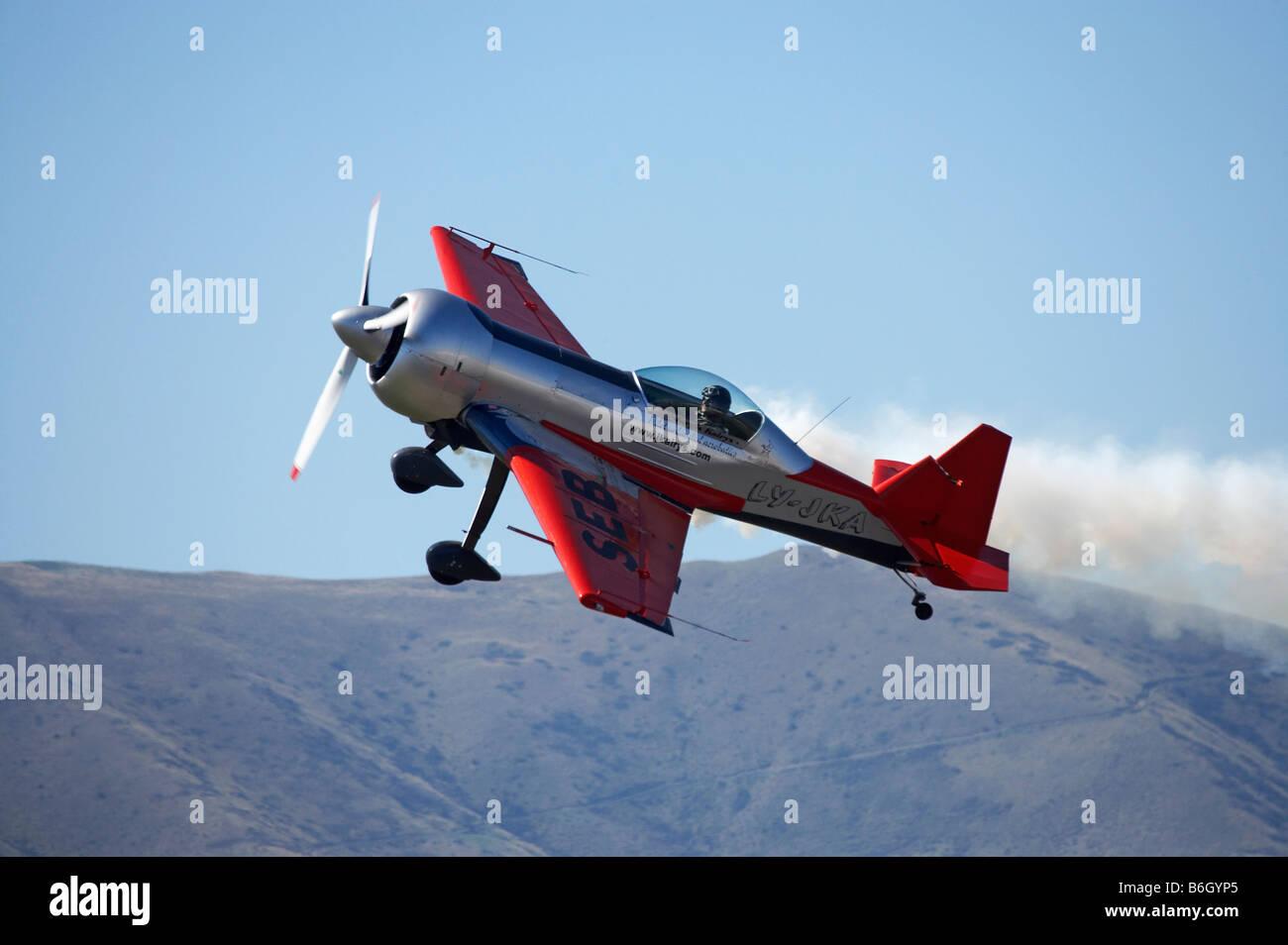 Stunt Plane flown by Lithuanian Jurgis Kairys - Stock Image
