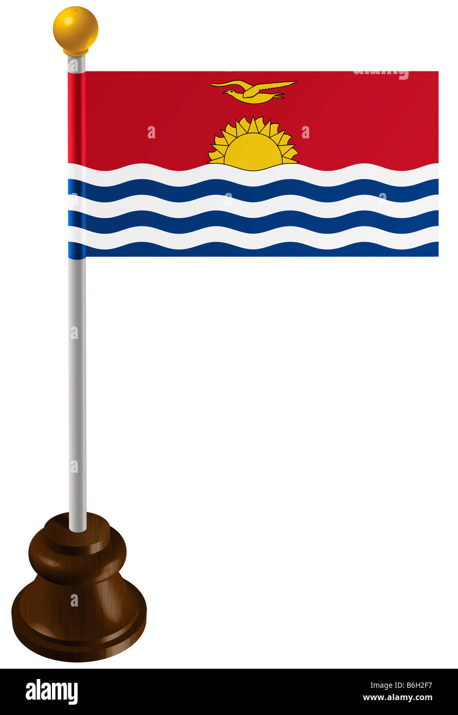 Kiribati flag as a marker - Stock Image