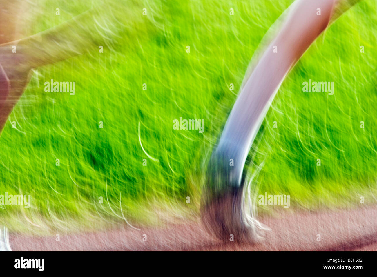 Close up of runners feet during a high school track & field meet - Stock Image