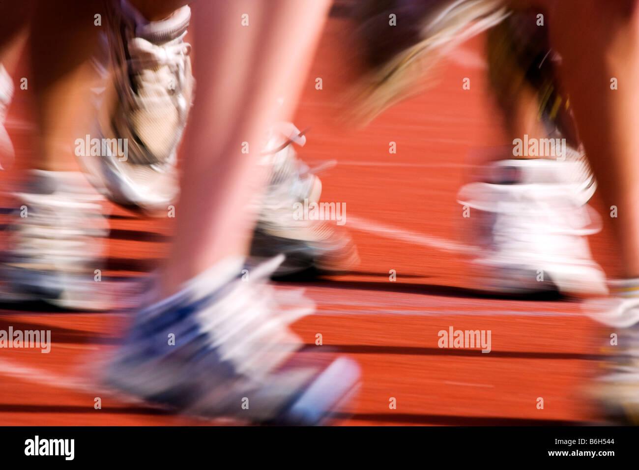 High school track & field meet - Stock Image