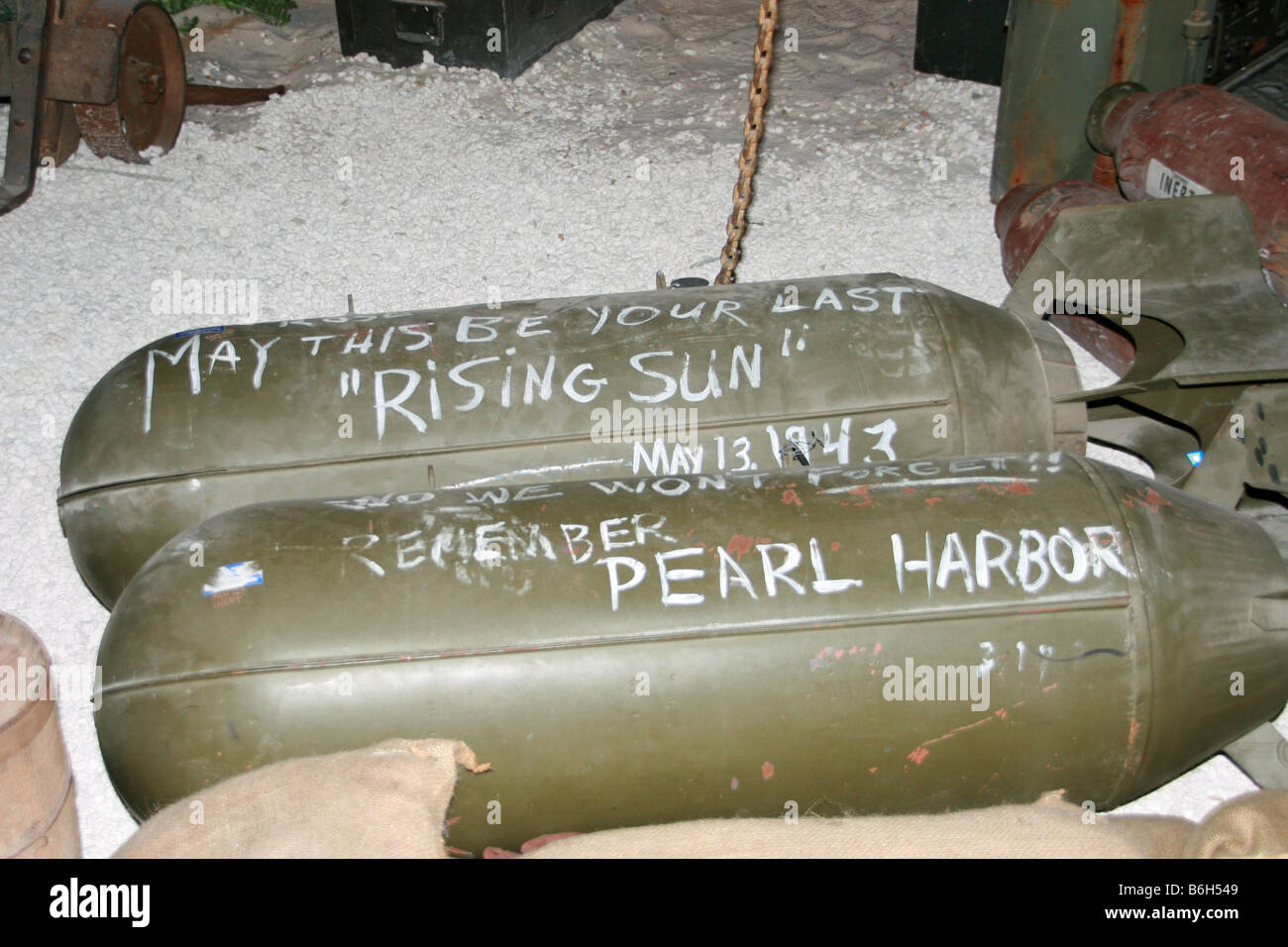 Soldiers Signed Bombs Waiting To Be Dropped On Japan