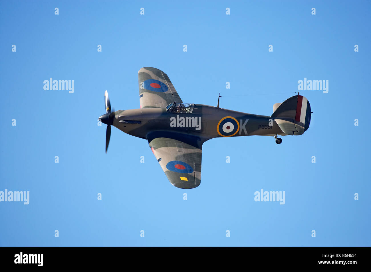 Hawker Hurricane British and allied WWII Fighter Plane - Stock Image