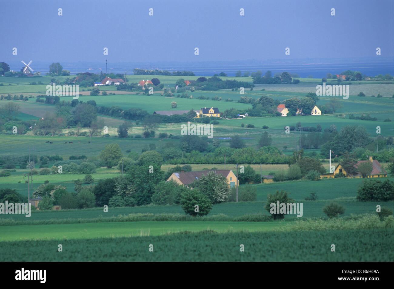 Elk167 3104 Denmark Aero Island farmland agriculture - Stock Image