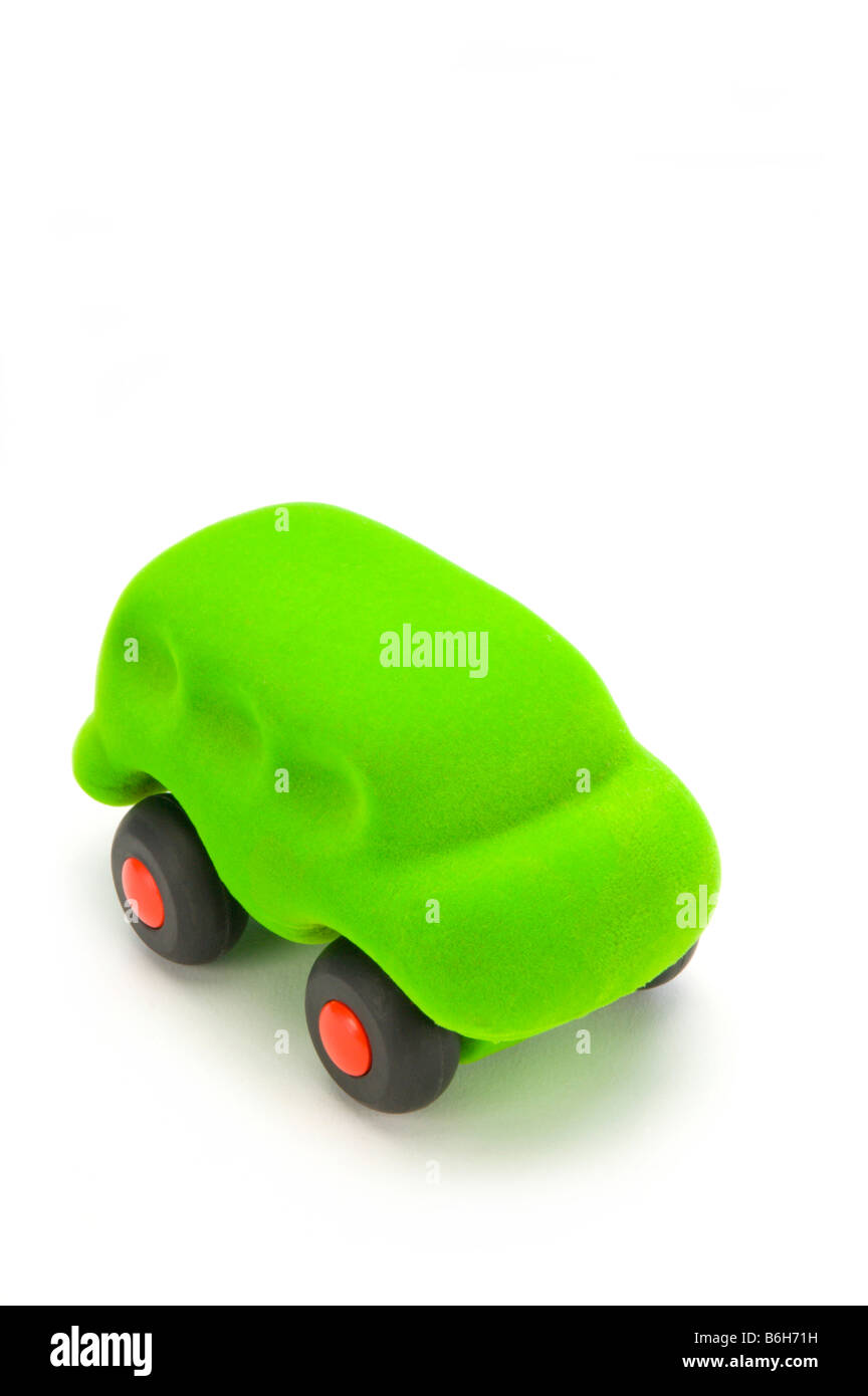 Green car toy - Stock Image