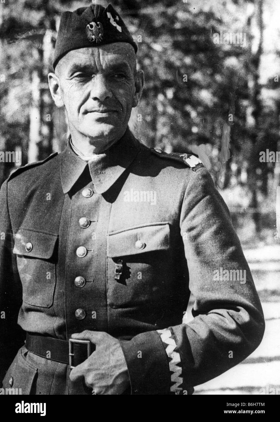 GENERAL ZIGMUNT BERLING Commander of the First Polish Army Corps supporting the Red Army in WW2 - Stock Image