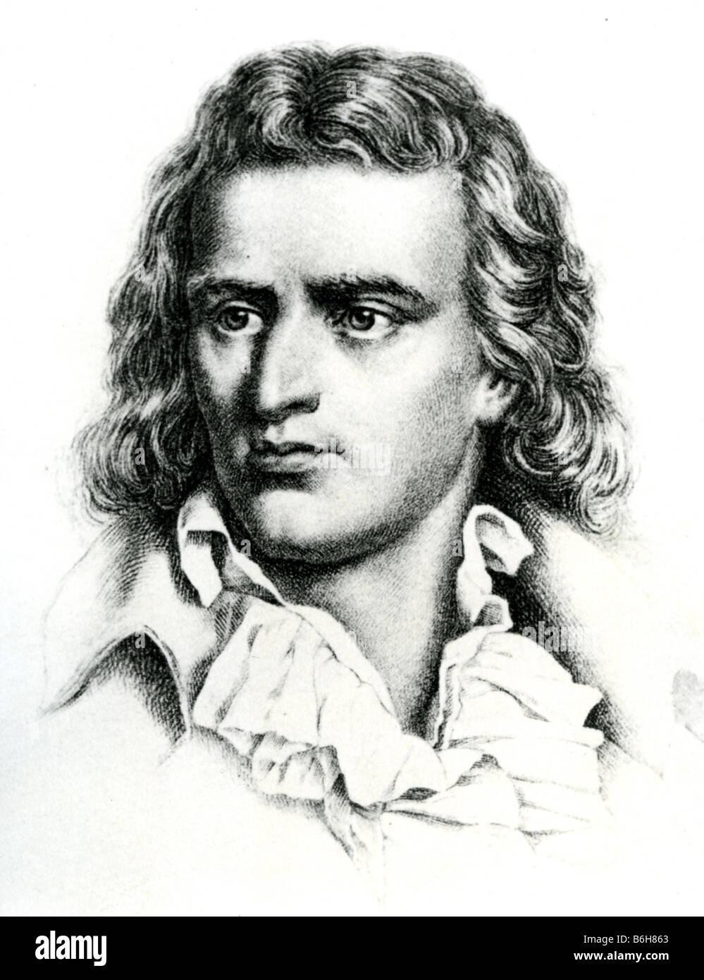 FRIEDRICH SCHILLER German dramatist and poet - Stock Image