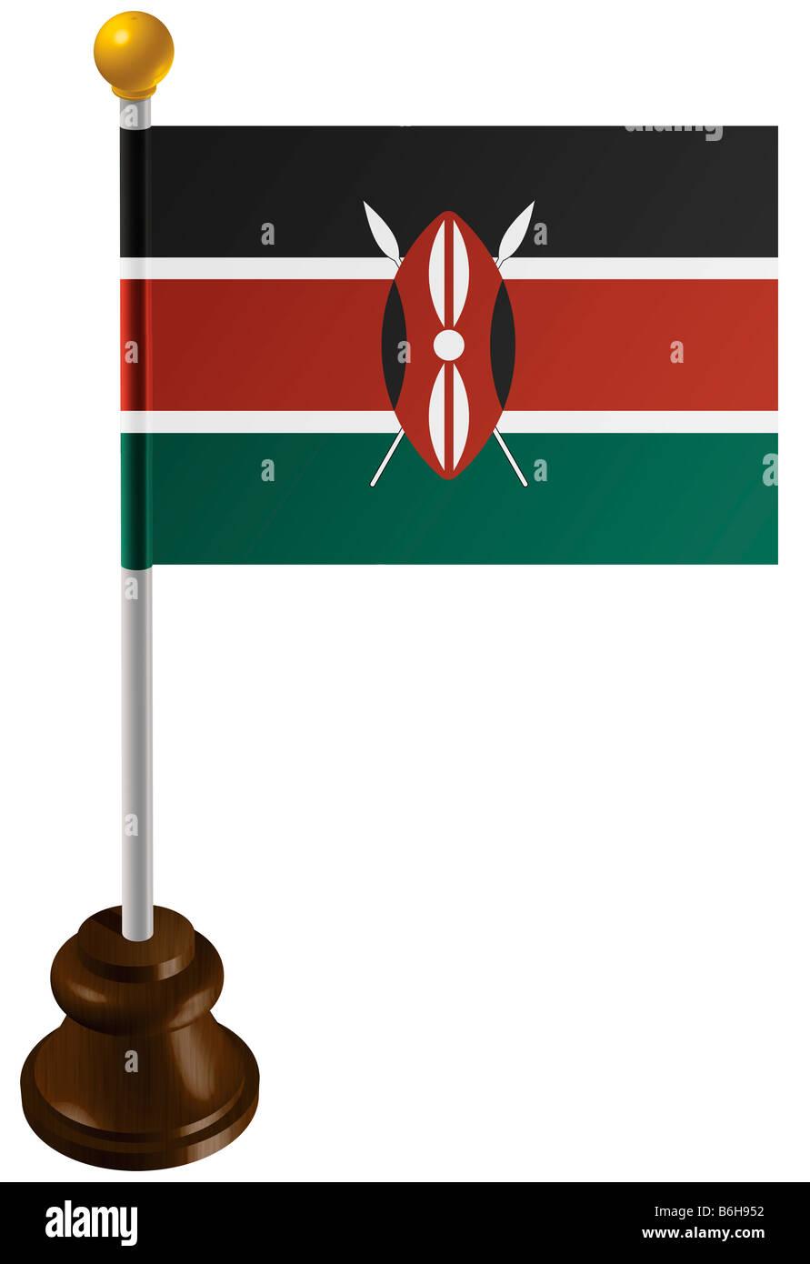 Kenya flag as a marker Stock Photo