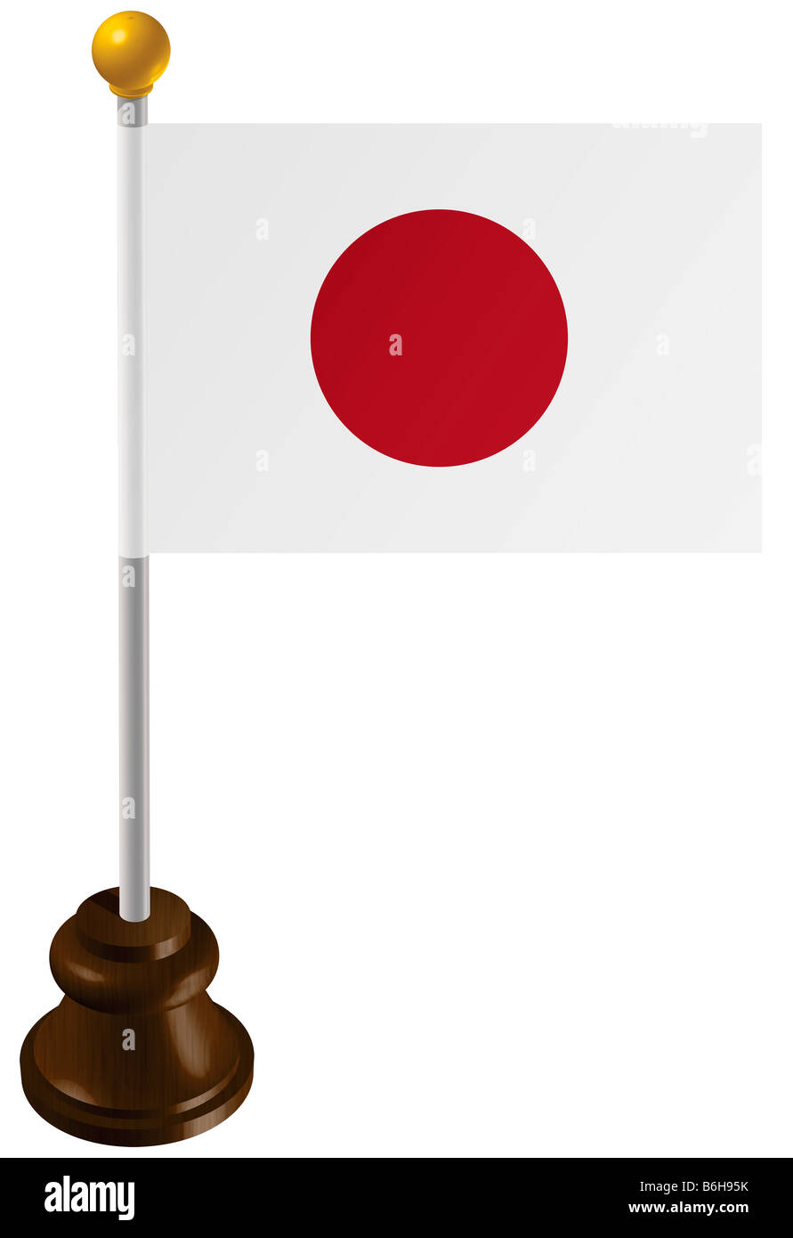 Japan flag as a marker Stock Photo