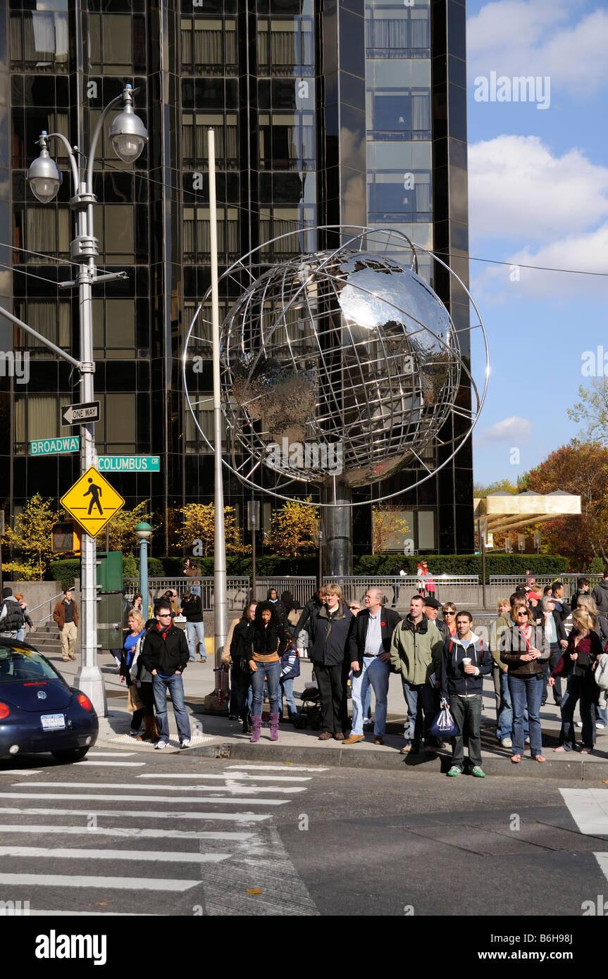 Columbus Circle Manhattan New York USA Stock Photo