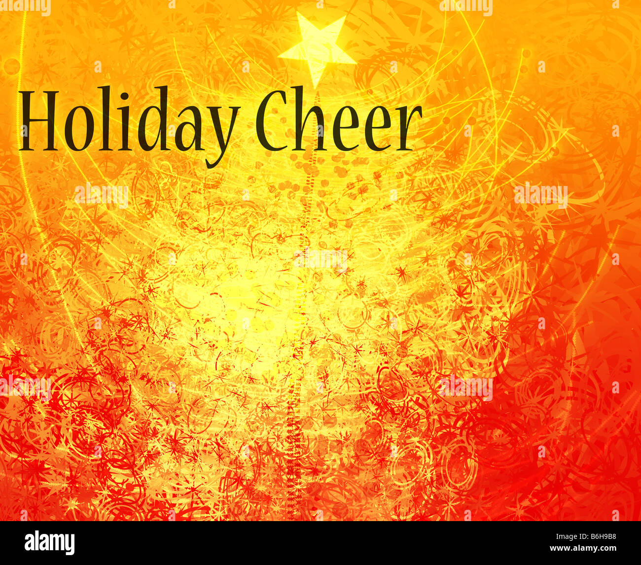 Merry Christmas Happy Holidays Greeting Card Design Stock Photo