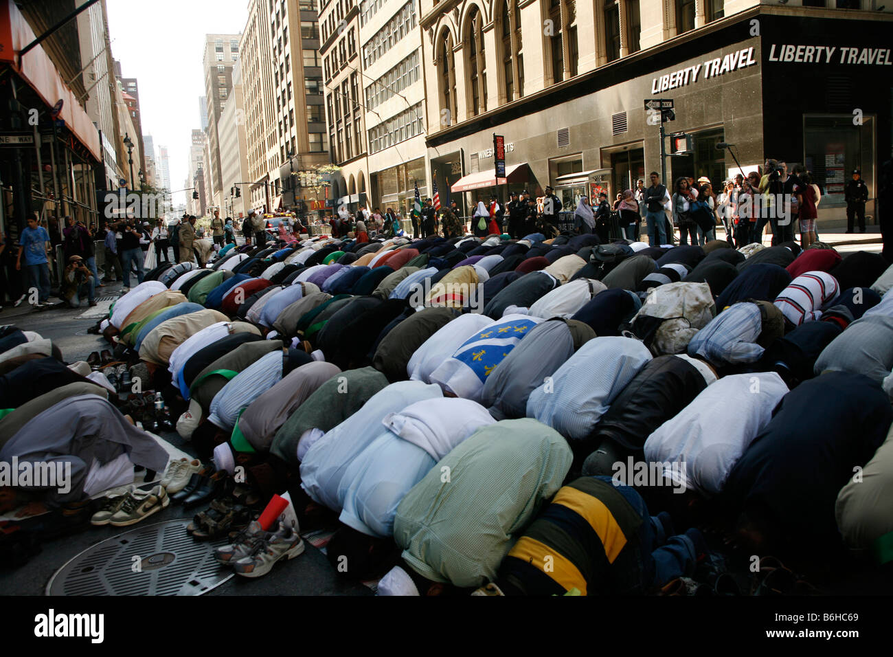 2008 American Muslim Day Parade and festival on Madison Avenue in New York City - Stock Image