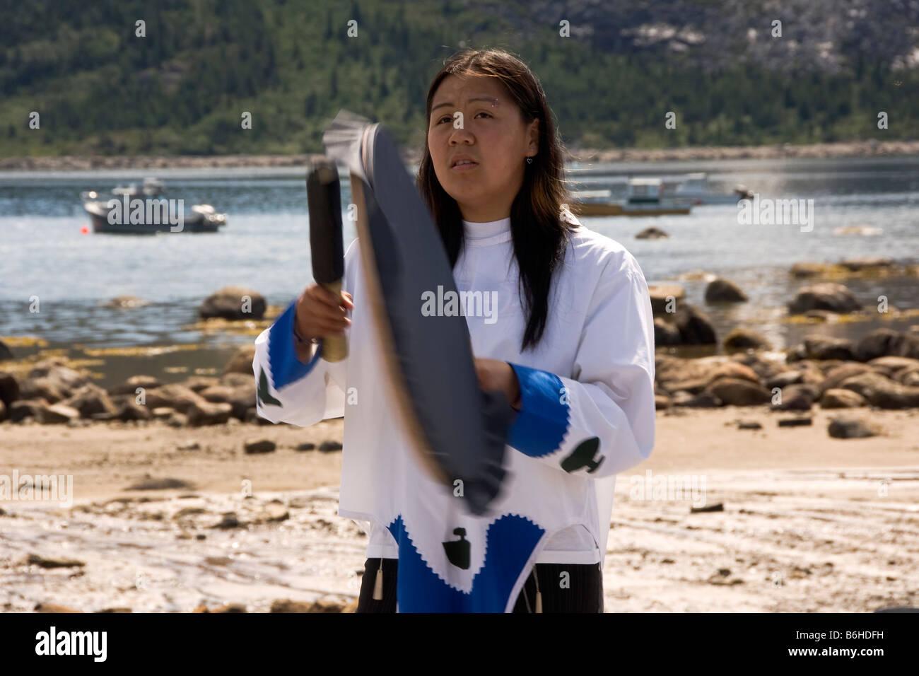 Inuit woman - Stock Image