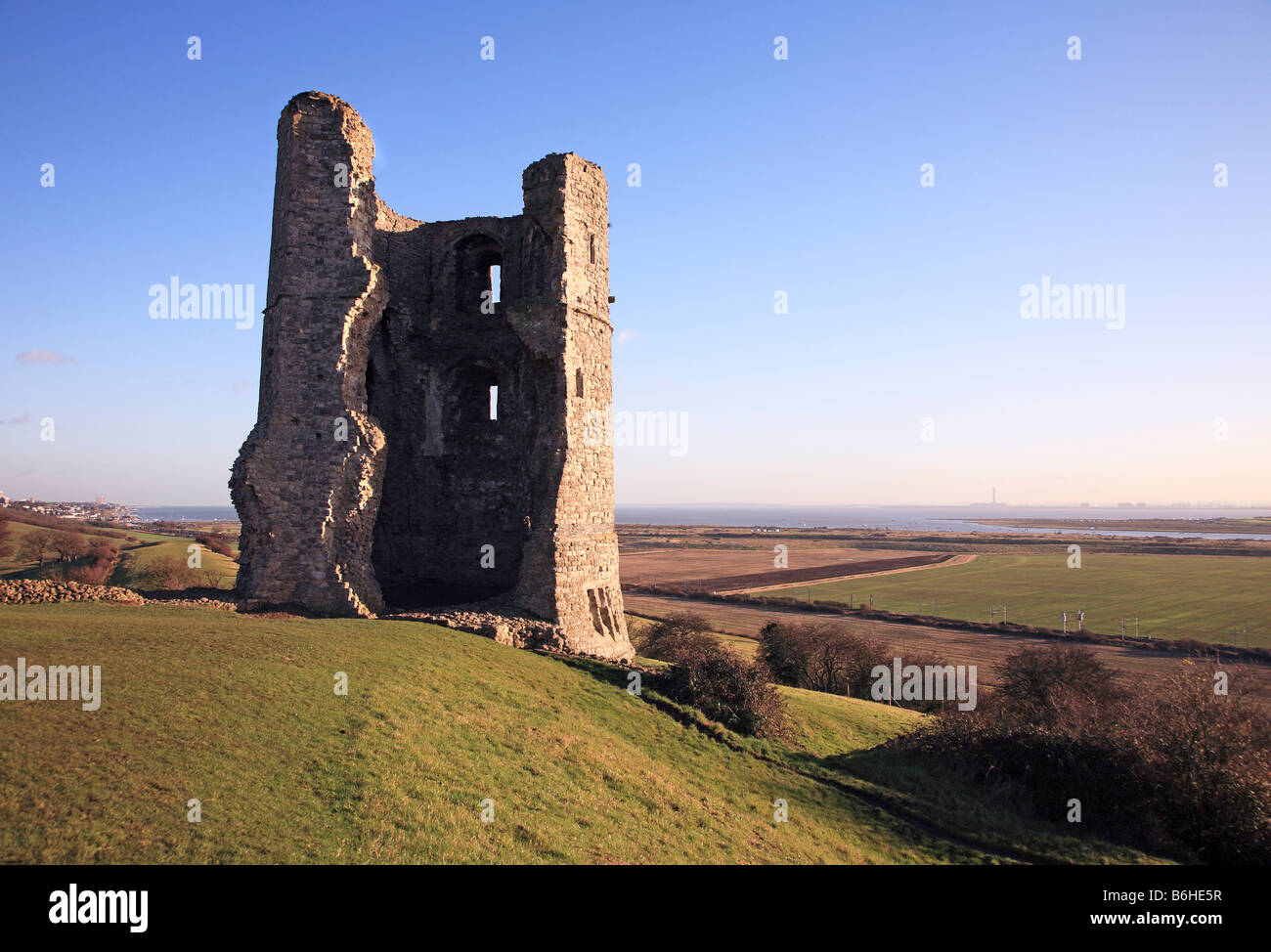 The ruins of Hadleigh Castle in Essex - Stock Image