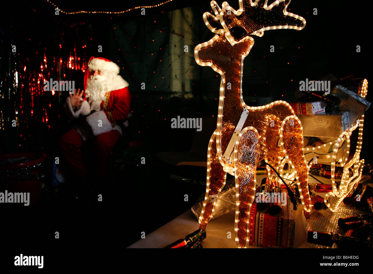 santas grotto stock image