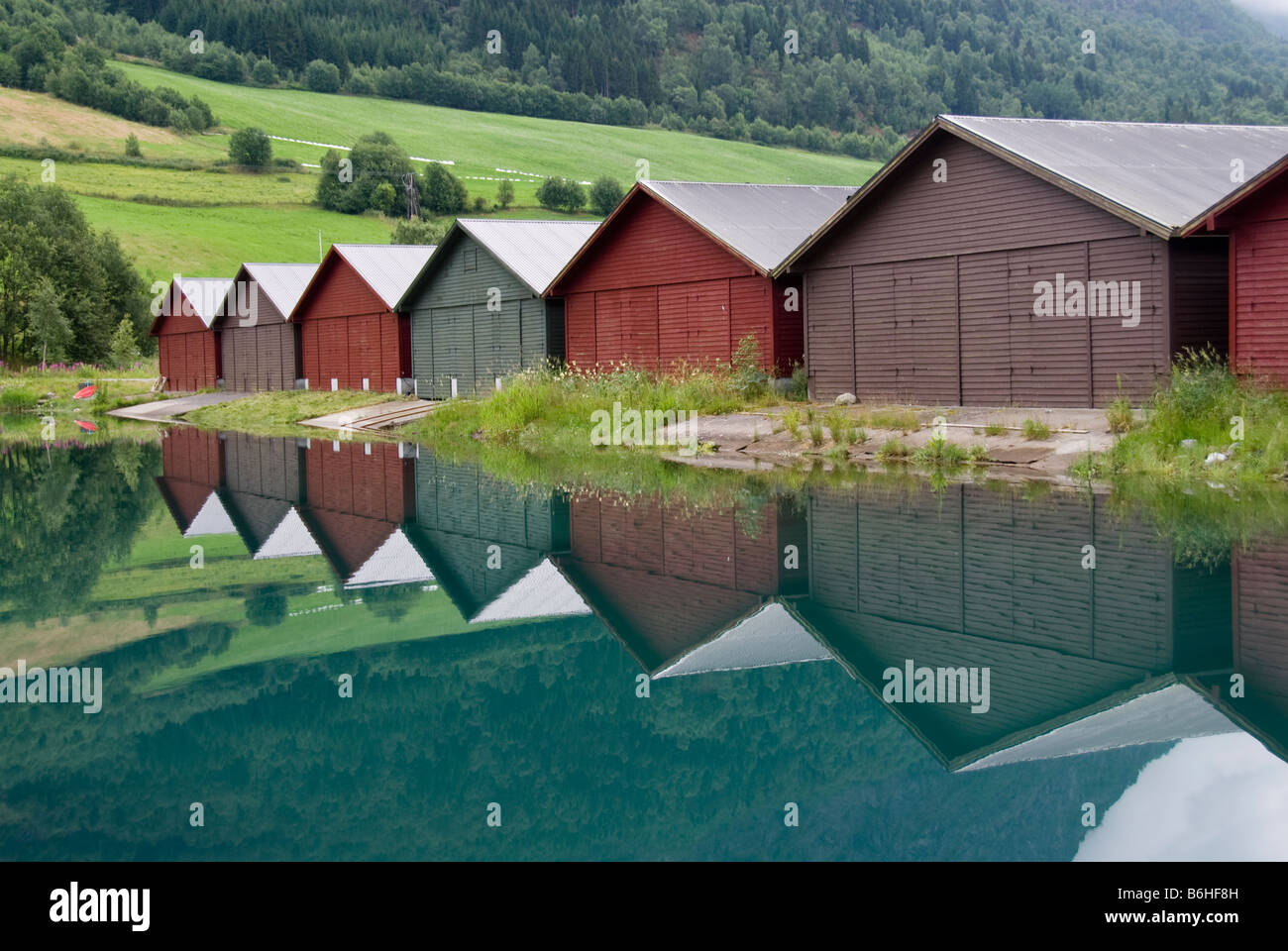 Olden, Norway - Stock Image