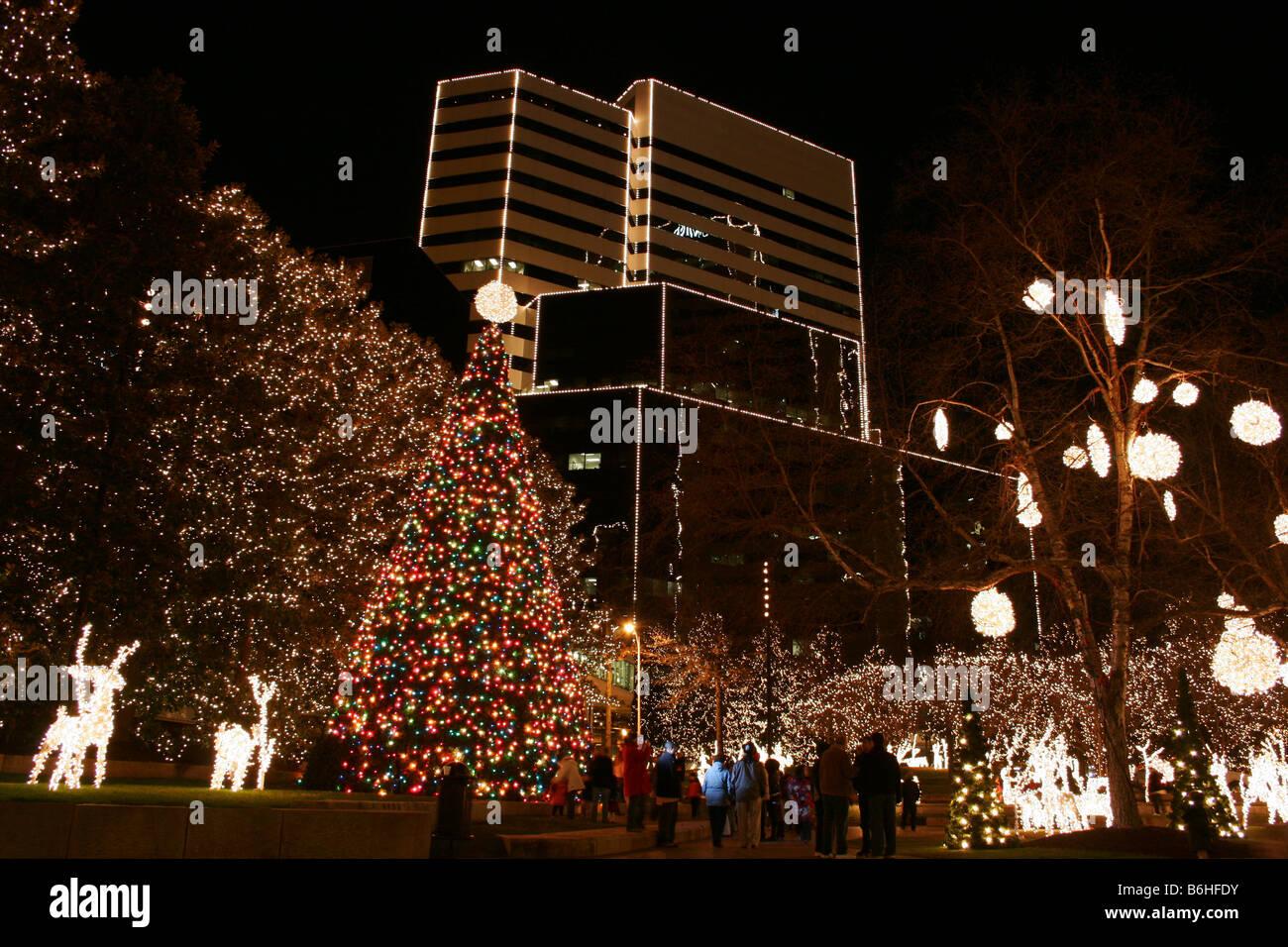 Christmas Lighting Richmond Va.Christmas Lights In Downtown Richmond Virginia Stock Photo