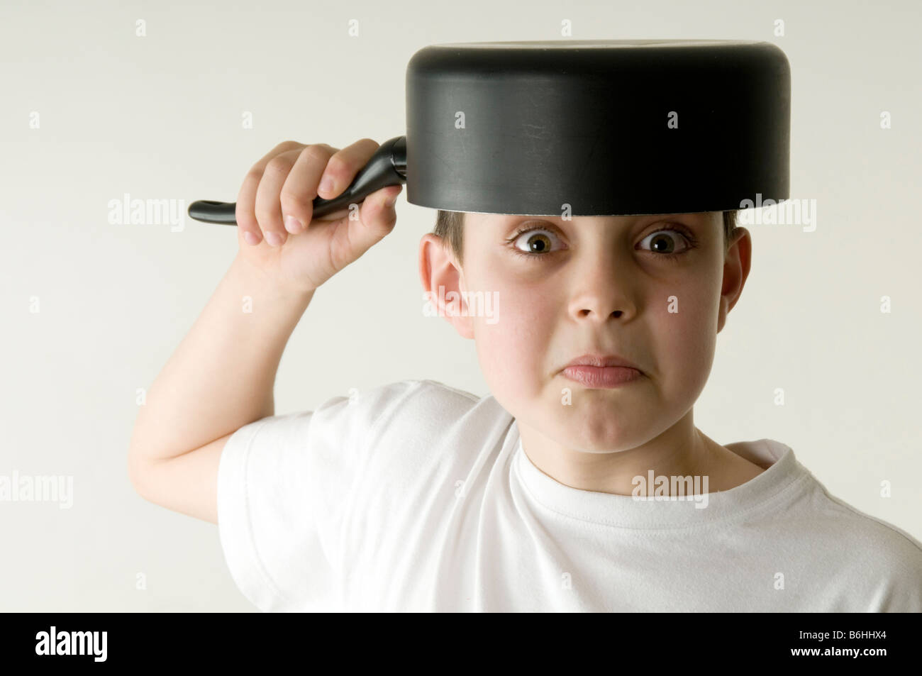 Silly Boy stock photo. Image of black, child, comedy