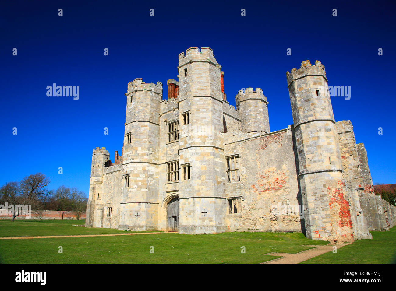 Titchfield Abbey in spring - Stock Image