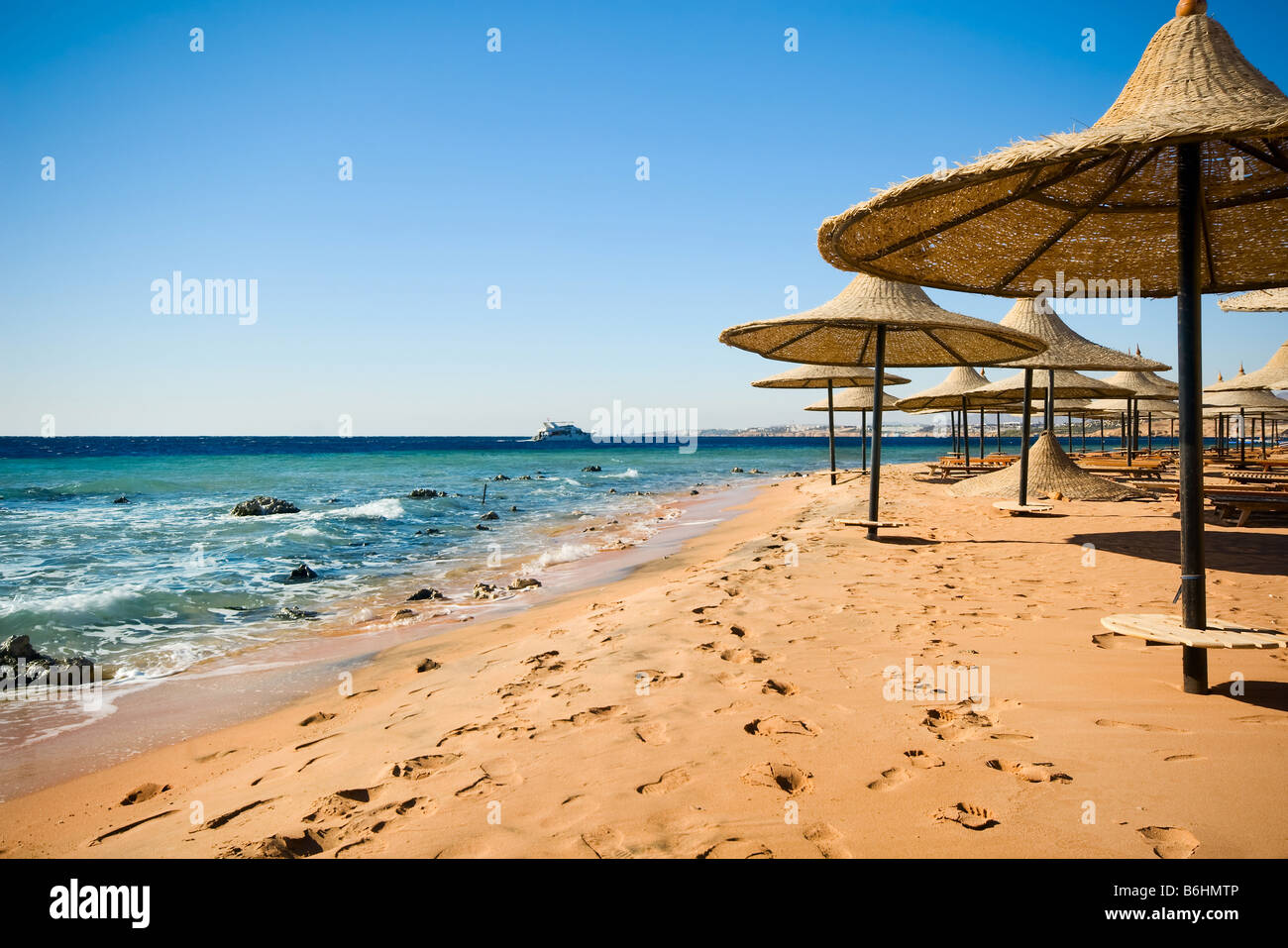 The coast of sharm el sheikh in Egypt - Stock Image
