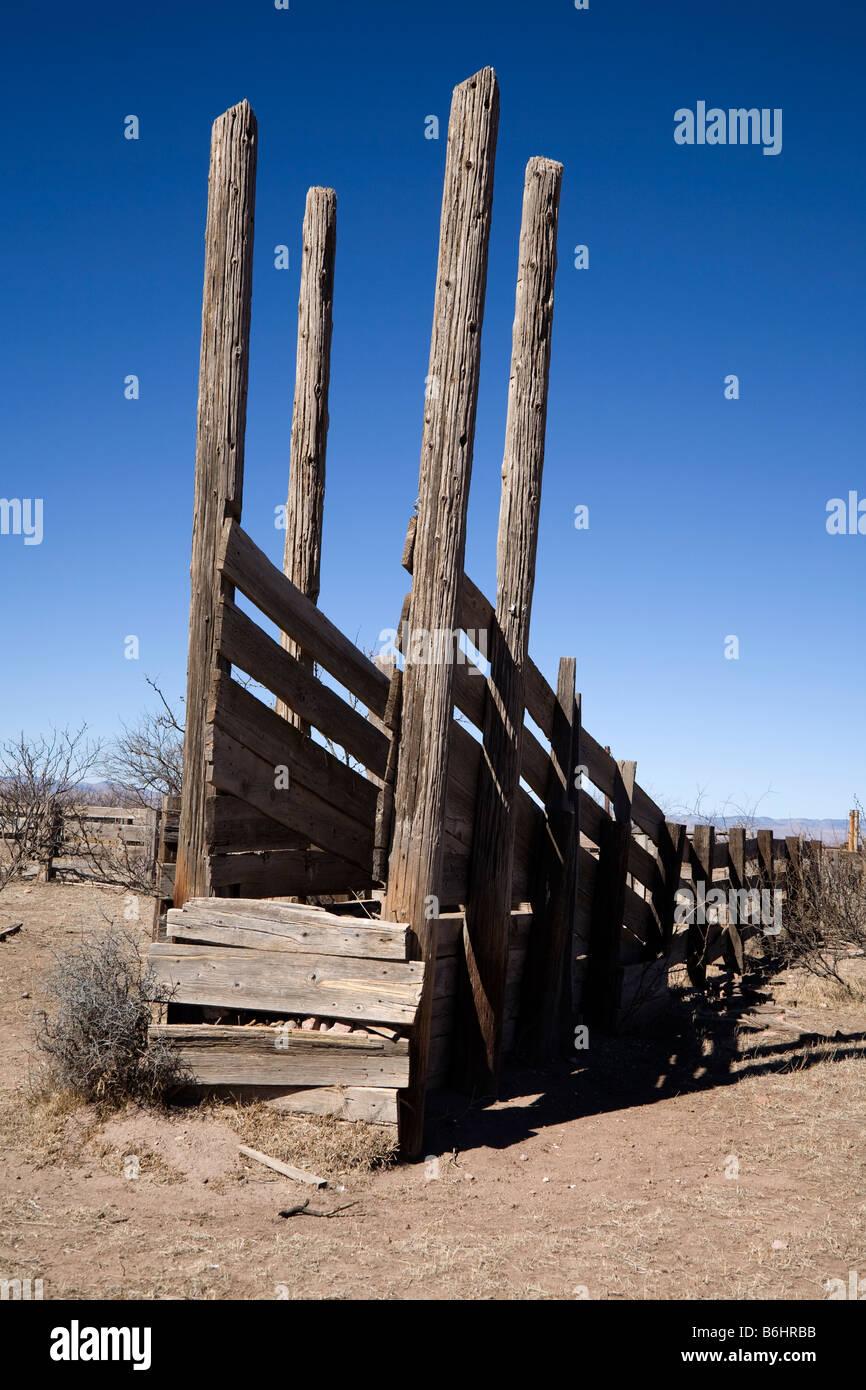 Old Wood Livestock Loading Chute Stock Photo 21289839 Alamy
