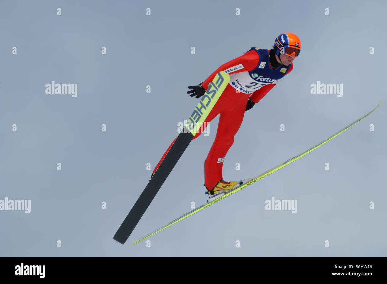 Nordic Combined World Cup,Holmenkollen, Norway - Stock Image