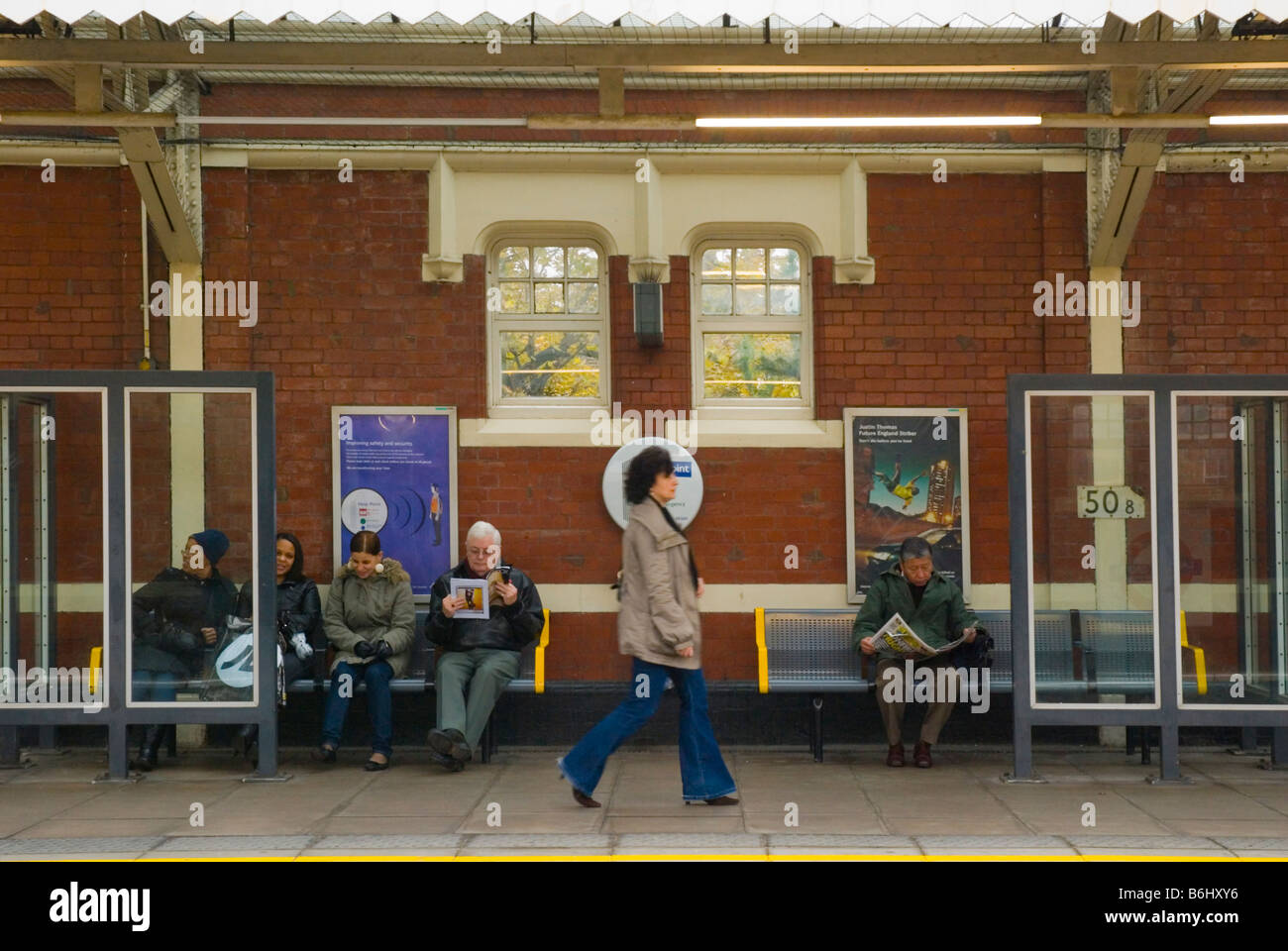 People at Ladbroke Grove tube station in West London England UK Stock Photo