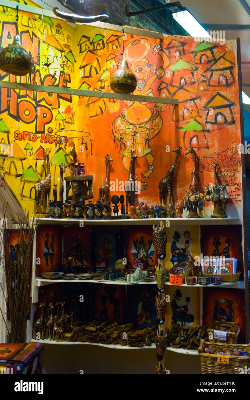 Handicrafts At Camden Lock Market In Camden Town London England Uk
