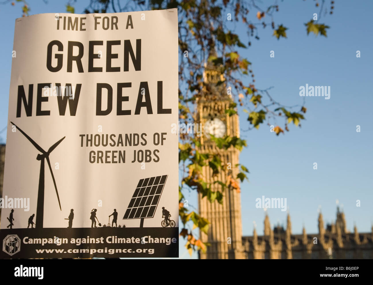 Campaign Against Climate Change march on Parliament Square in London Stock Photo