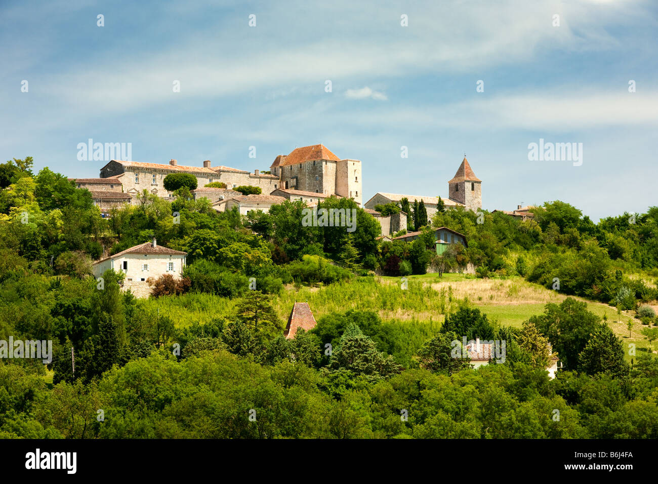 The hilltop town of Gramont in Tarn et Garonne, France, Europe Stock Photo