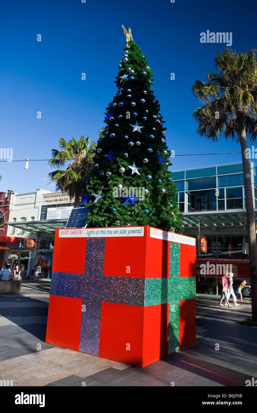 solar powered christmas tree the corso manly new south wales australia - Solar Christmas Tree