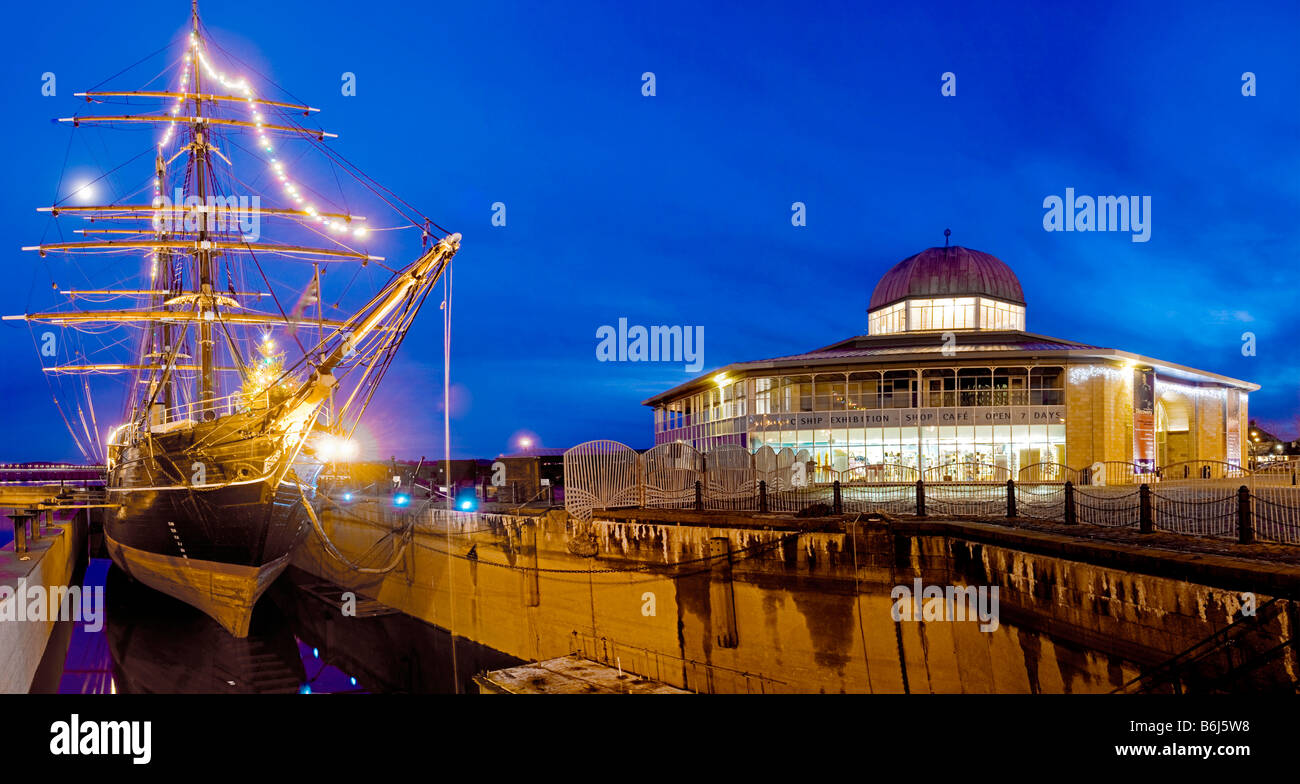 The vessel Discovery in dock at Dundee in Scotland. - Stock Image