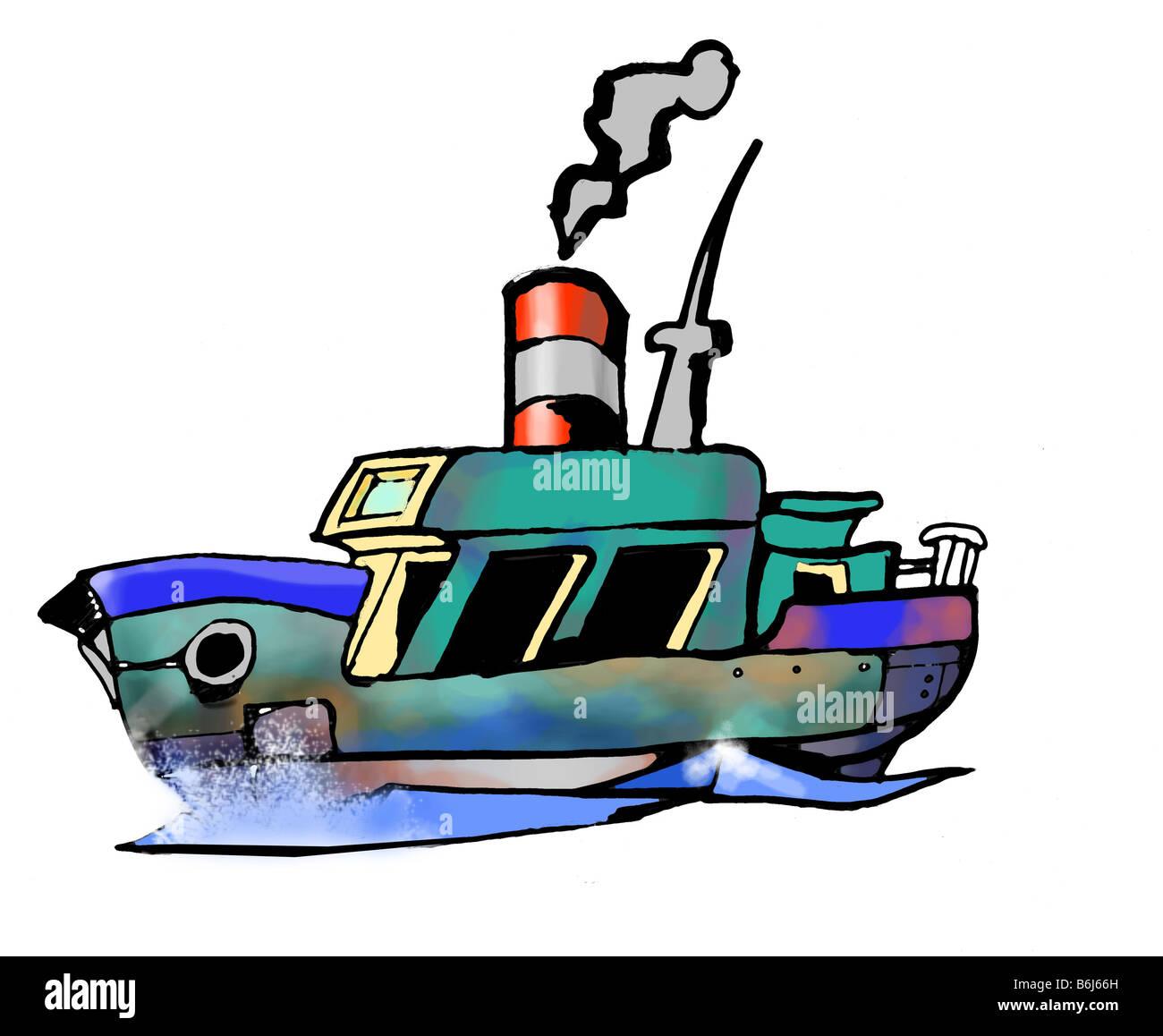 Ship sailing - Stock Image