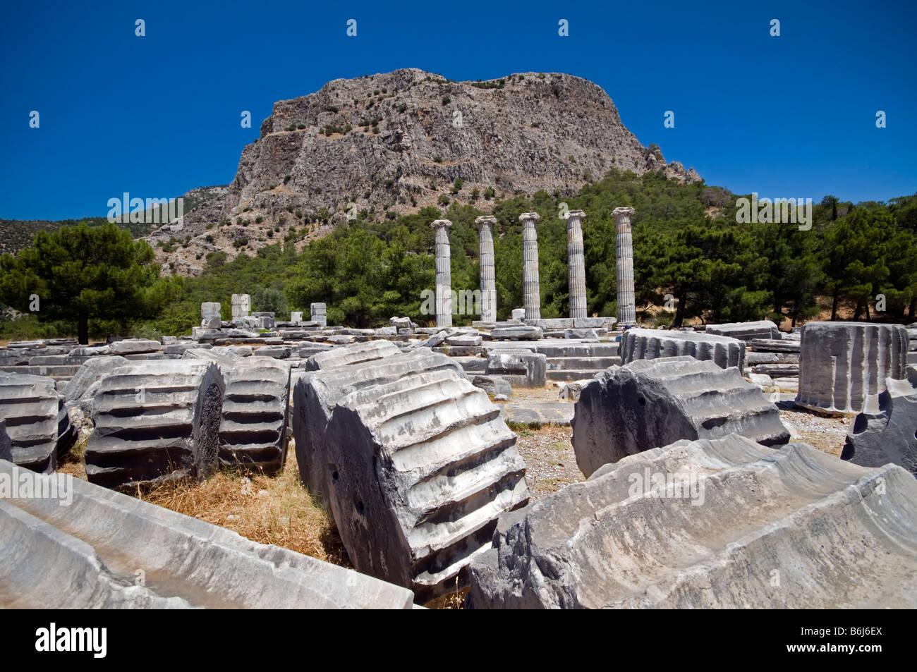 Priene ancient city Izmir Turkey Stock Photo