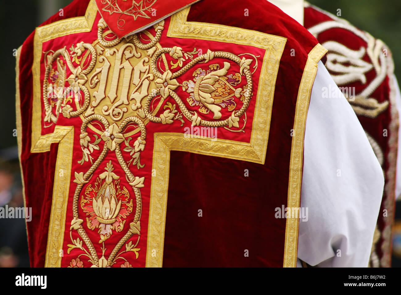 Ecclesiastical garment - Stock Image