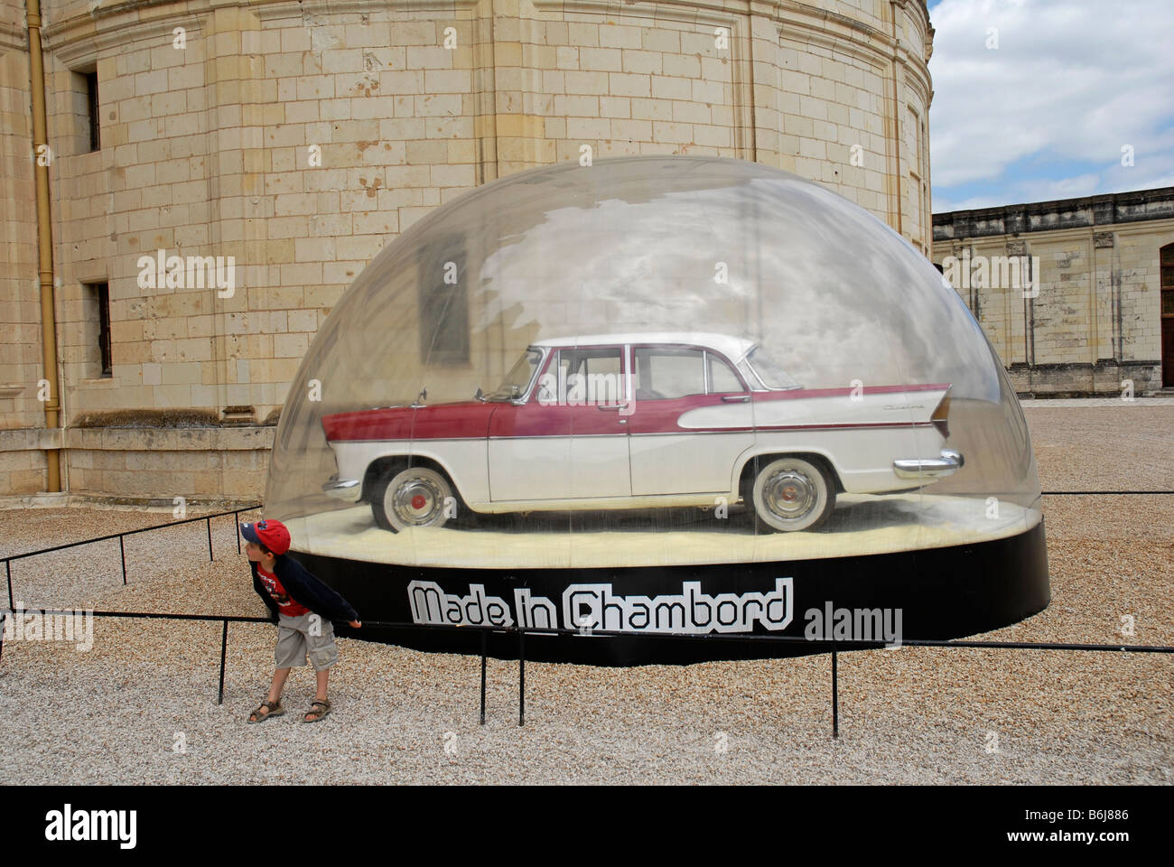 SIMCA Chambord old car in Chateau Royal de Chambord French Stock ...