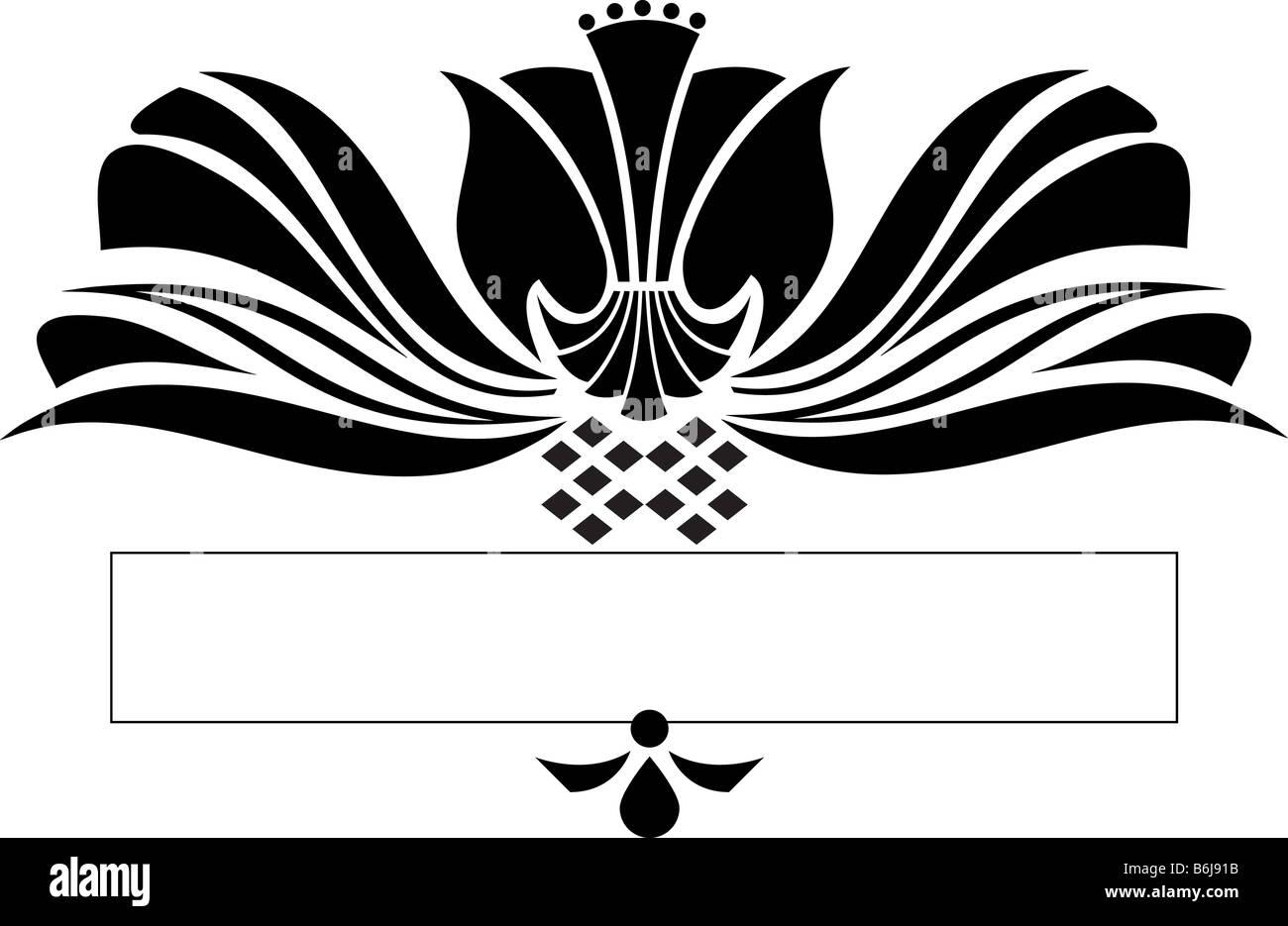 scroll design - Stock Image