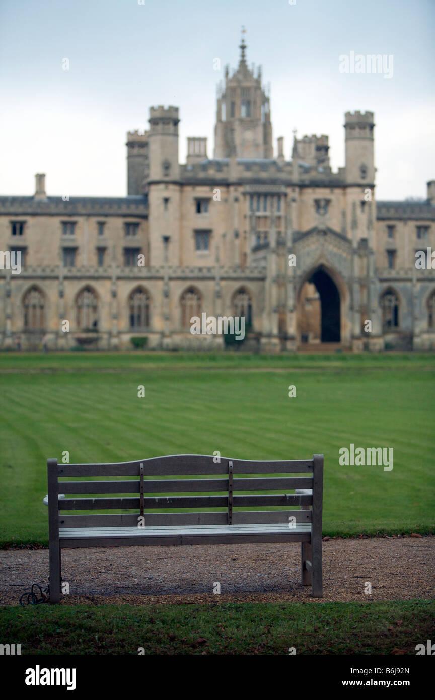View of St. Johns College, Cambridge University. - Stock Image