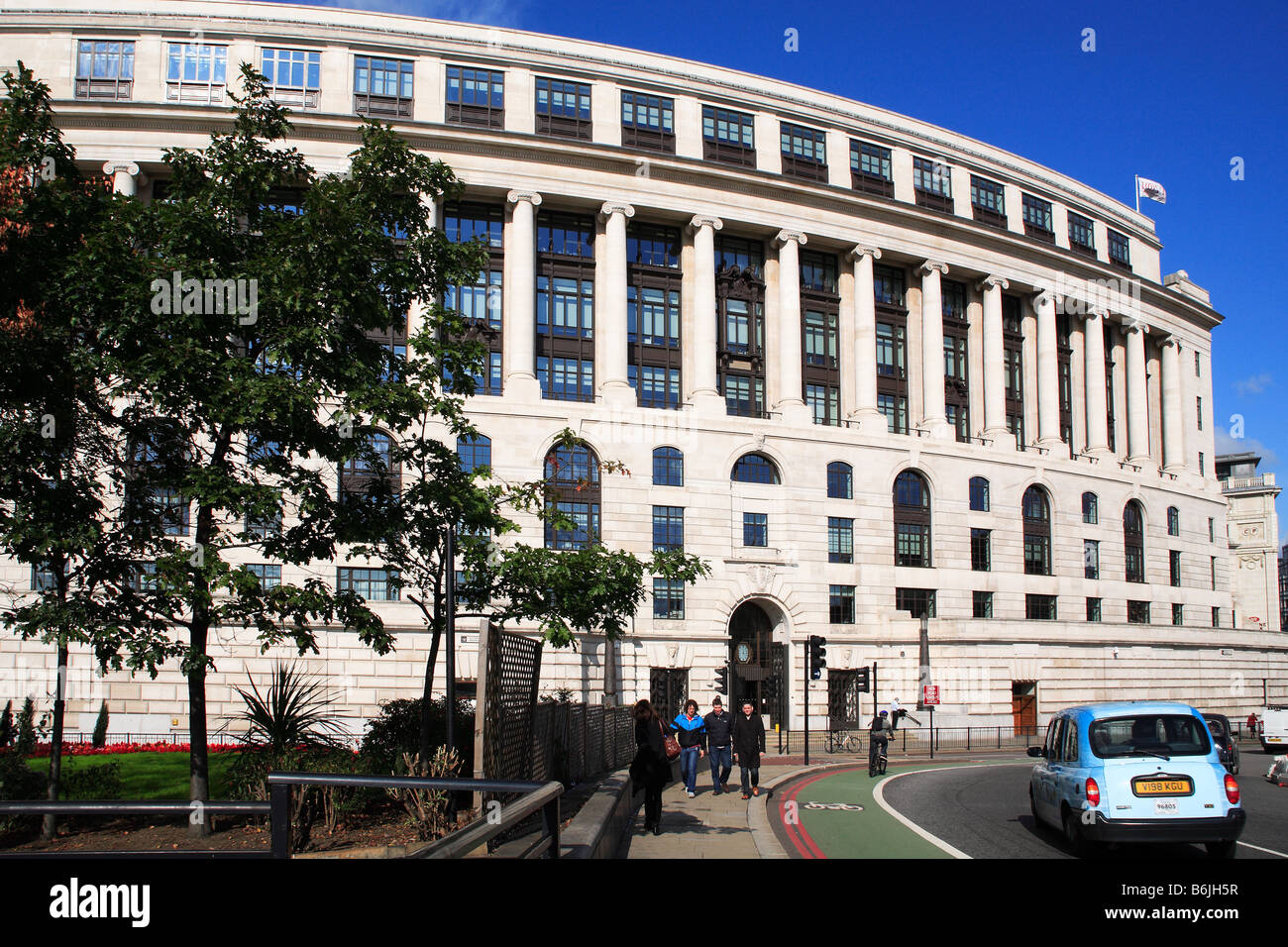 Unilever Office building Embankment City of London England - Stock Image