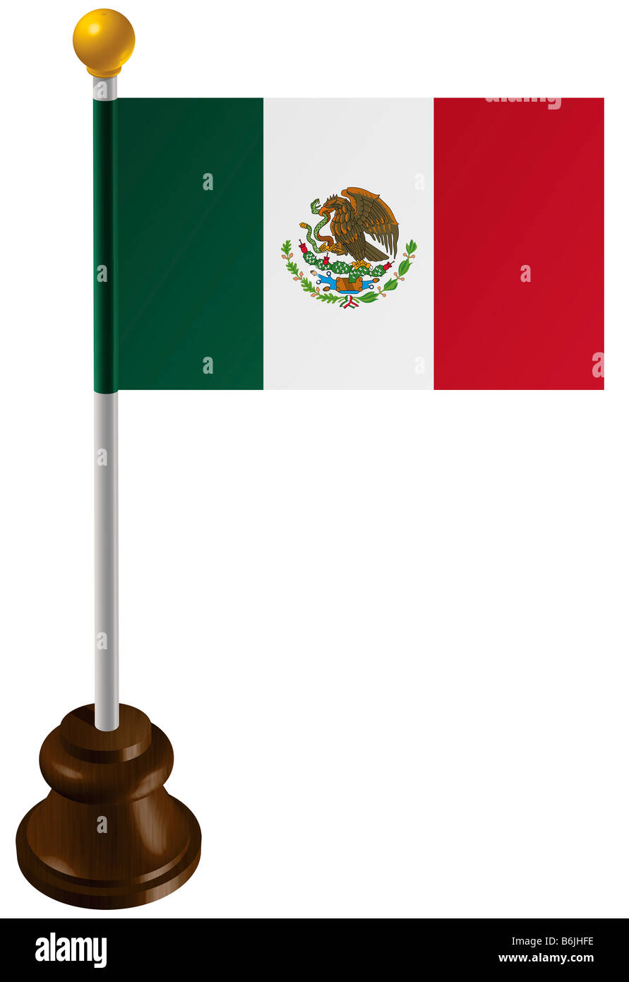 Mexico flag as a marker - Stock Image