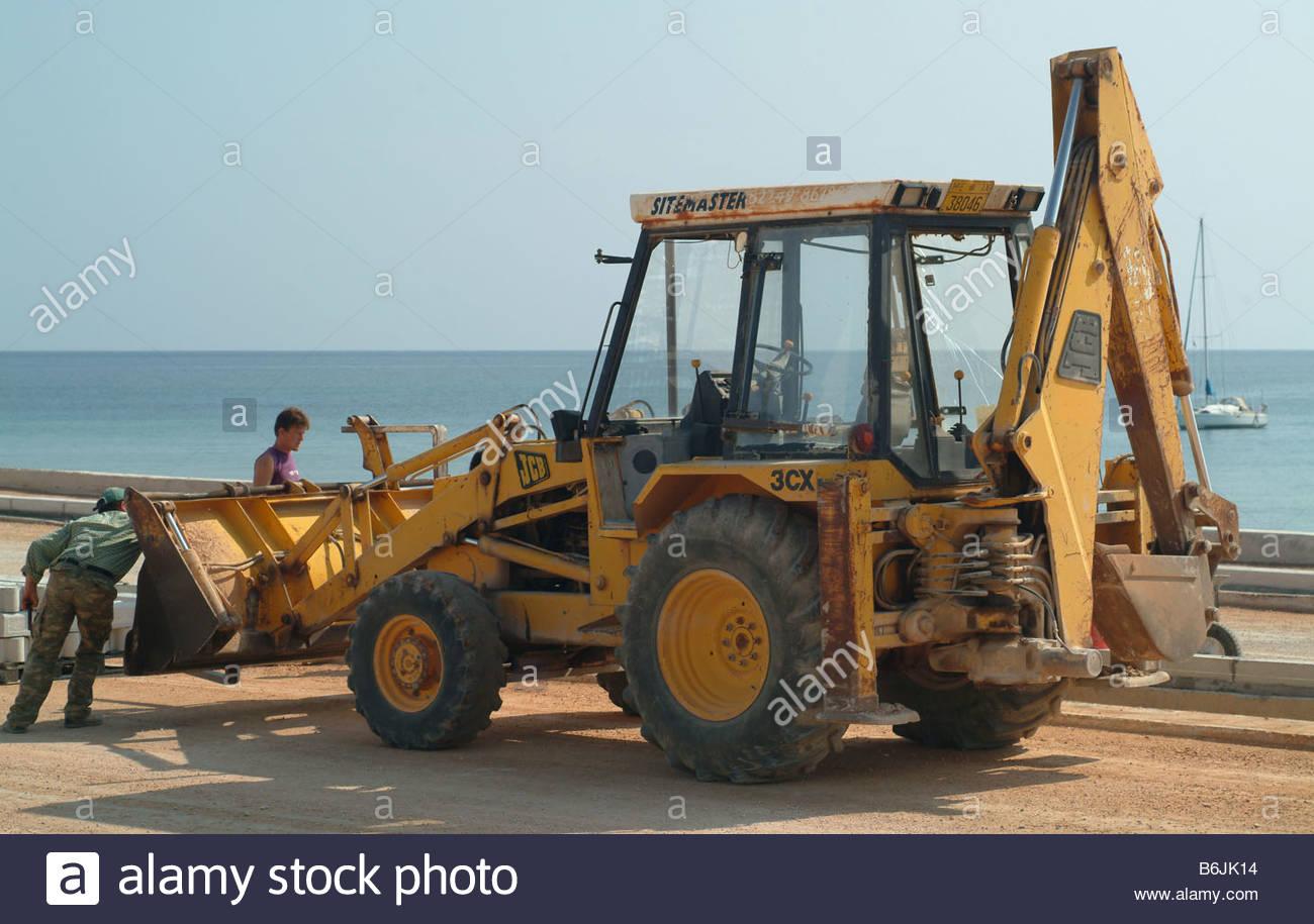 Excavator excavators Stock Photo