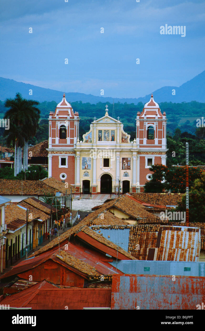 Central America Nicaragua Leon Rooftop View Of Colonial Leon From