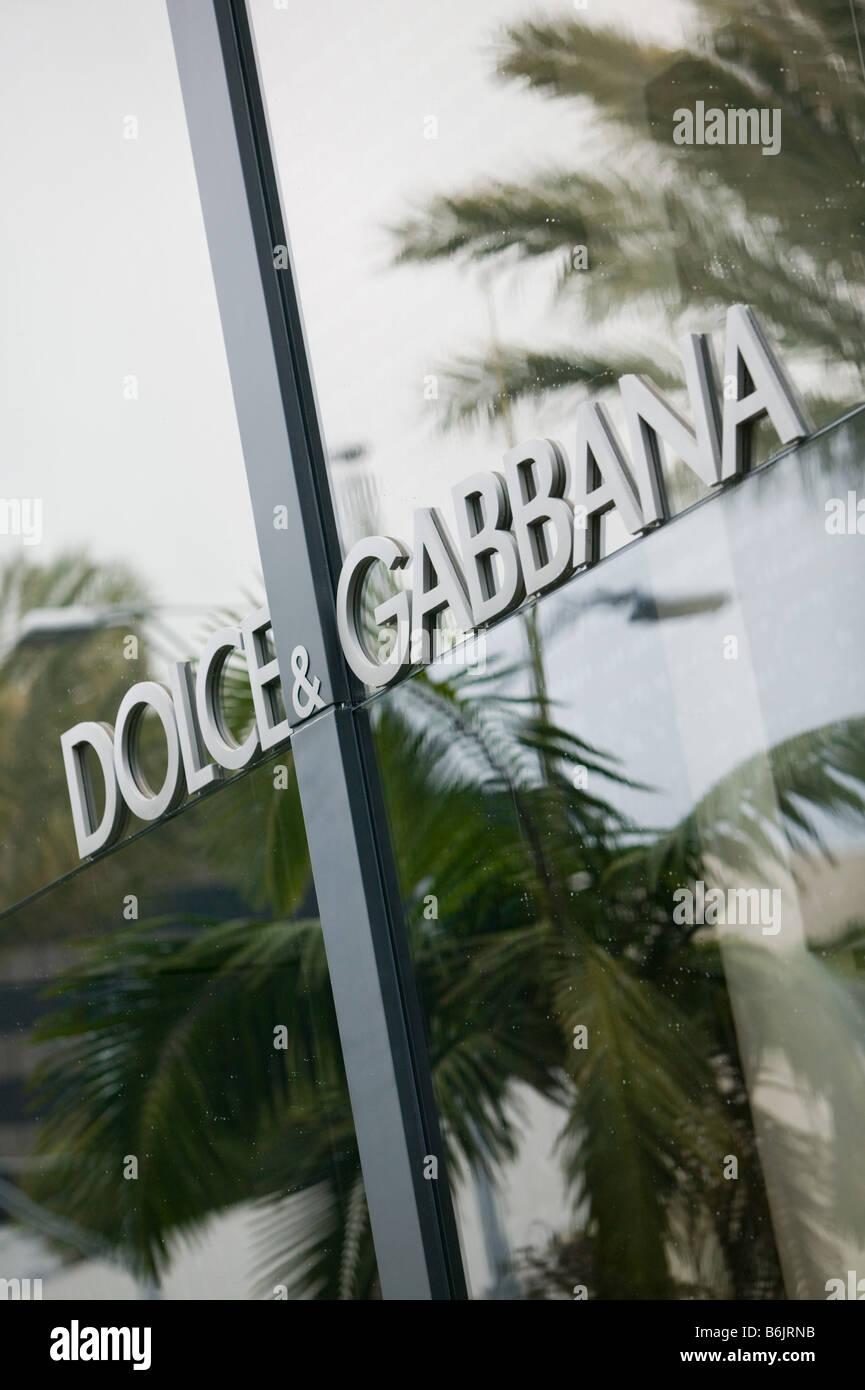 USA, California, Los Angeles, Beverly Hills: Rodeo Drive, Dolce & Gabbana Window - Stock Image