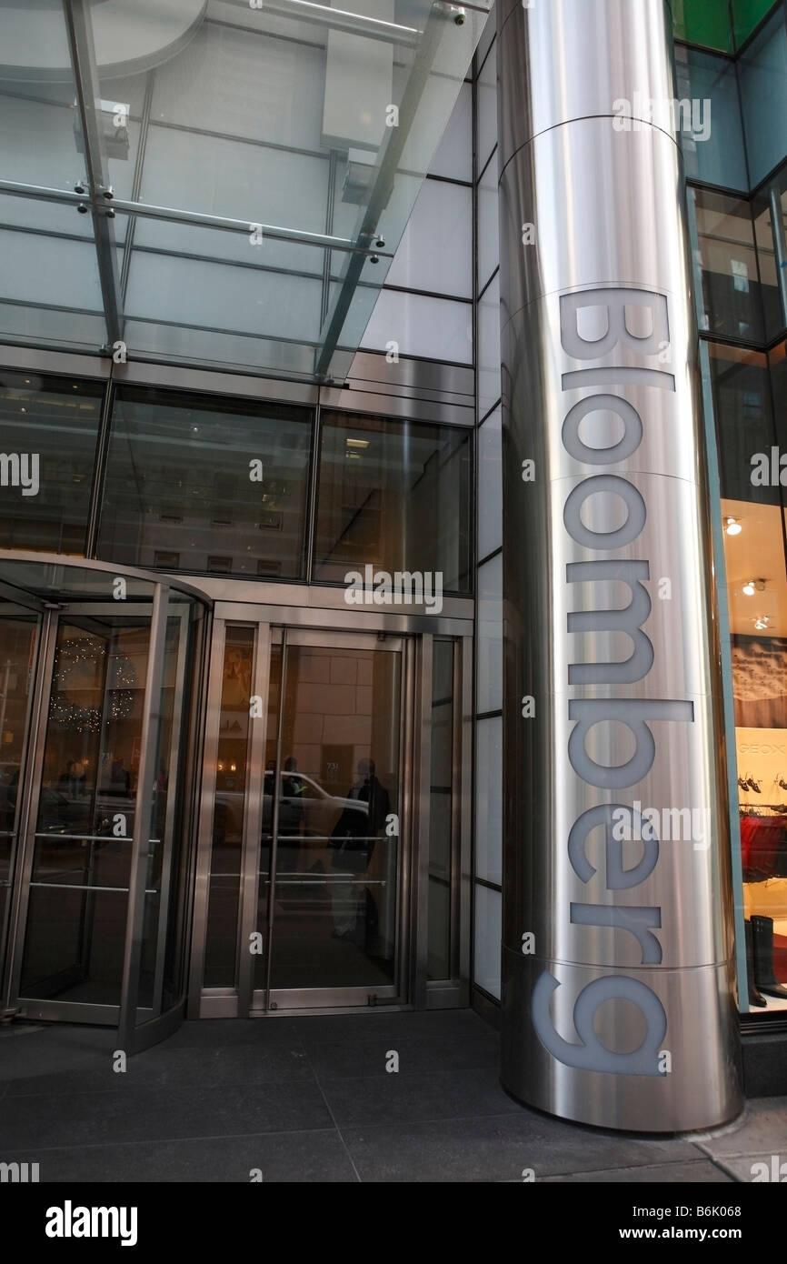 Bloomberg headquarters new york - Stock Image