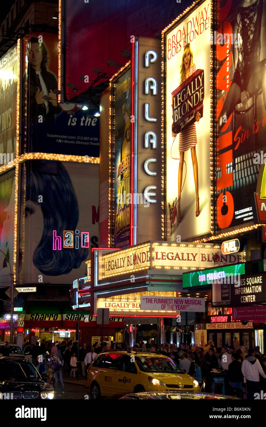 The Palace Theatre On Broadway In Manhattan New York City