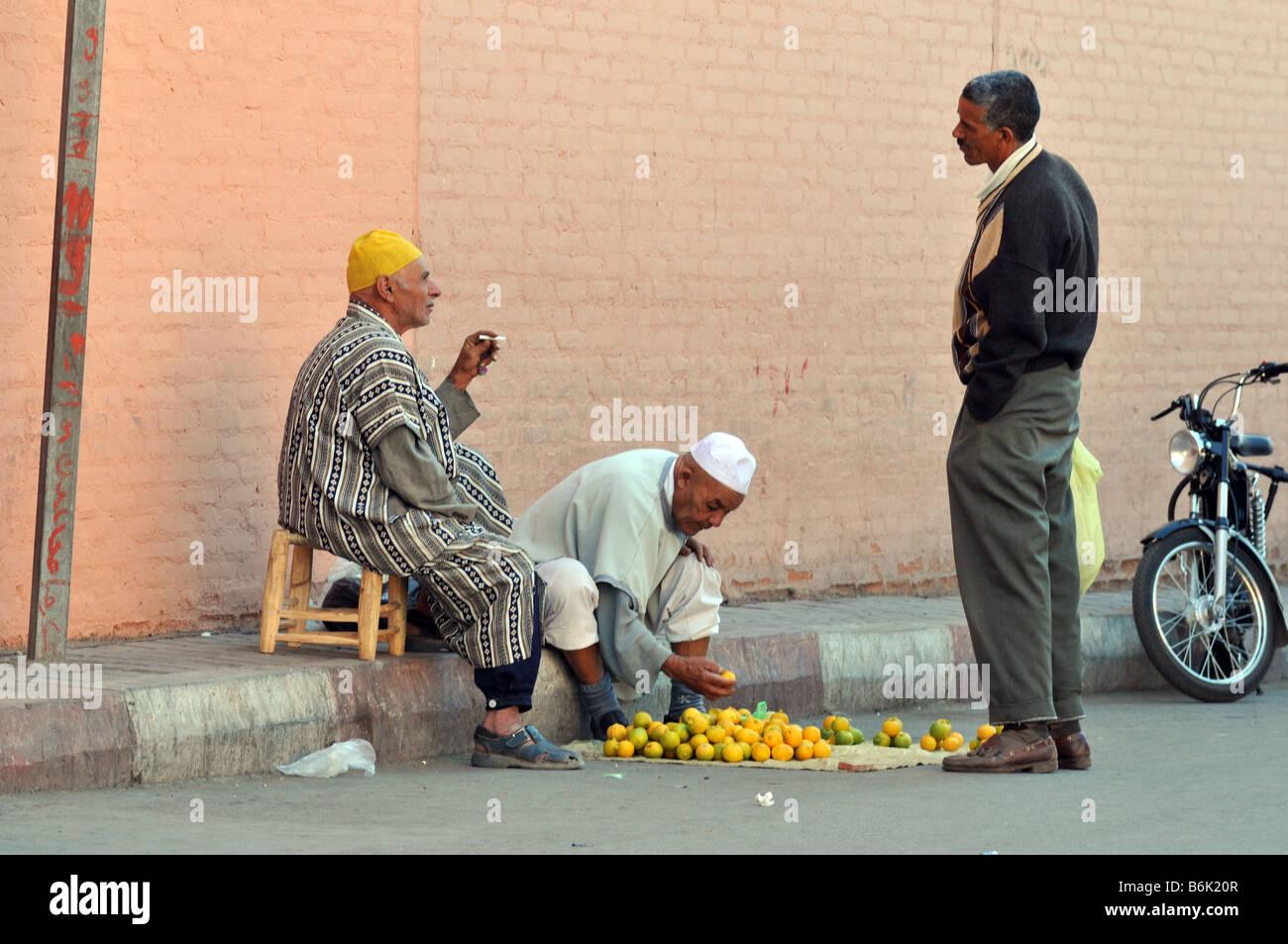 Local Men Marrakech, Morrocco - Stock Image