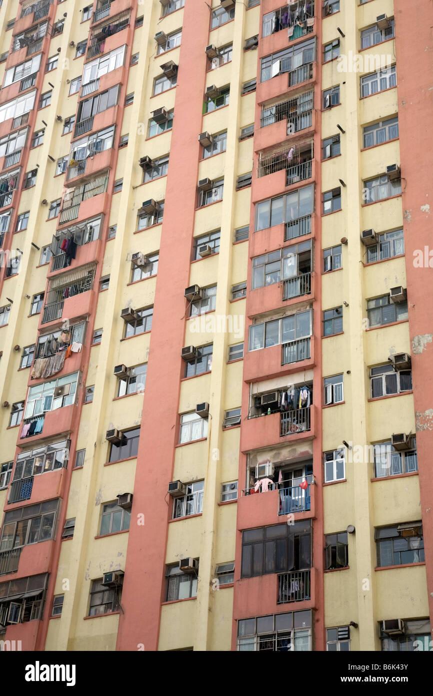 Hong Kong High Rise Apartment Building With External Air
